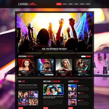 Template Club de noapte Joomla #45332