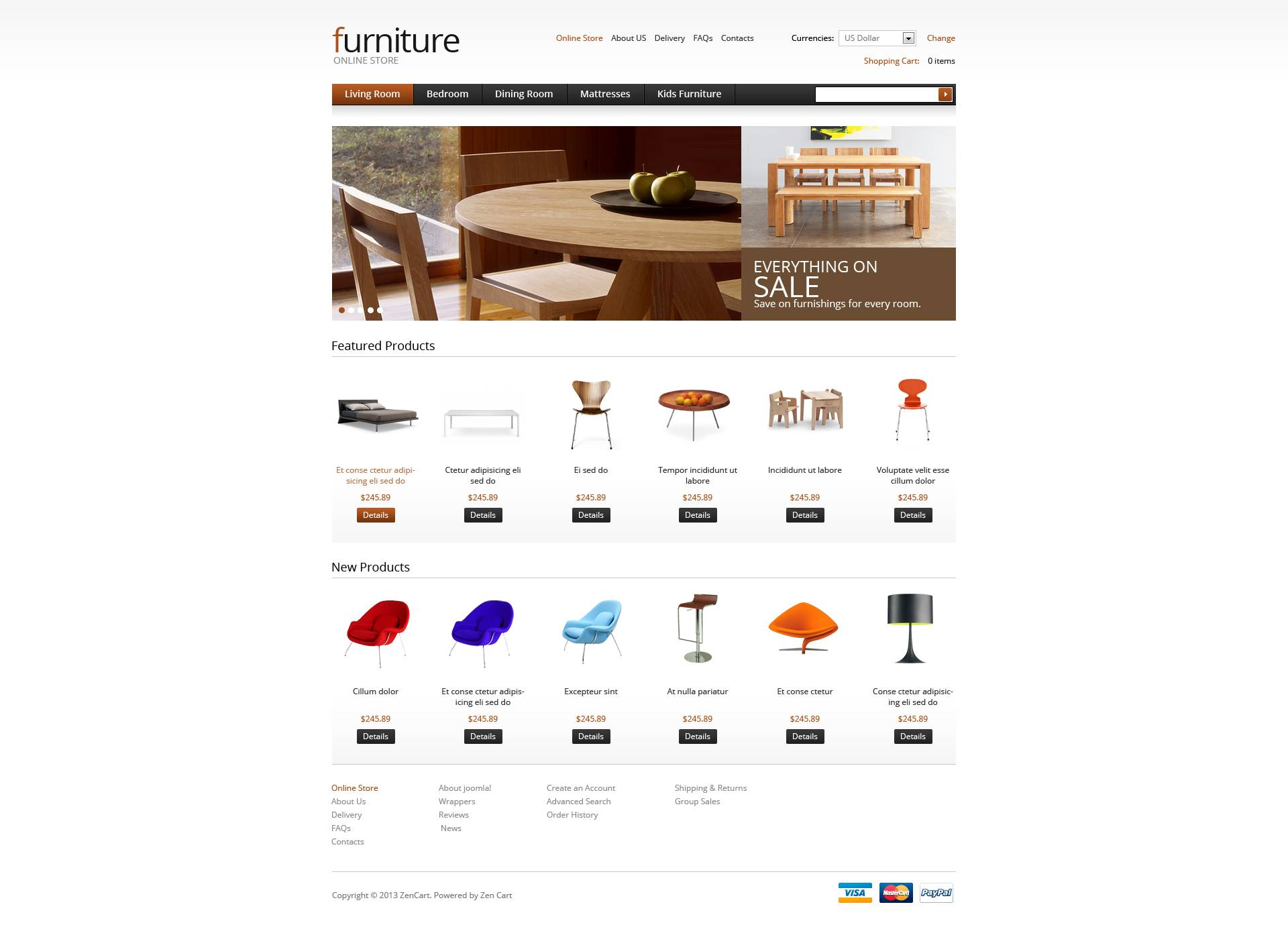 Furniture for Your Apartment VirtueMart Template