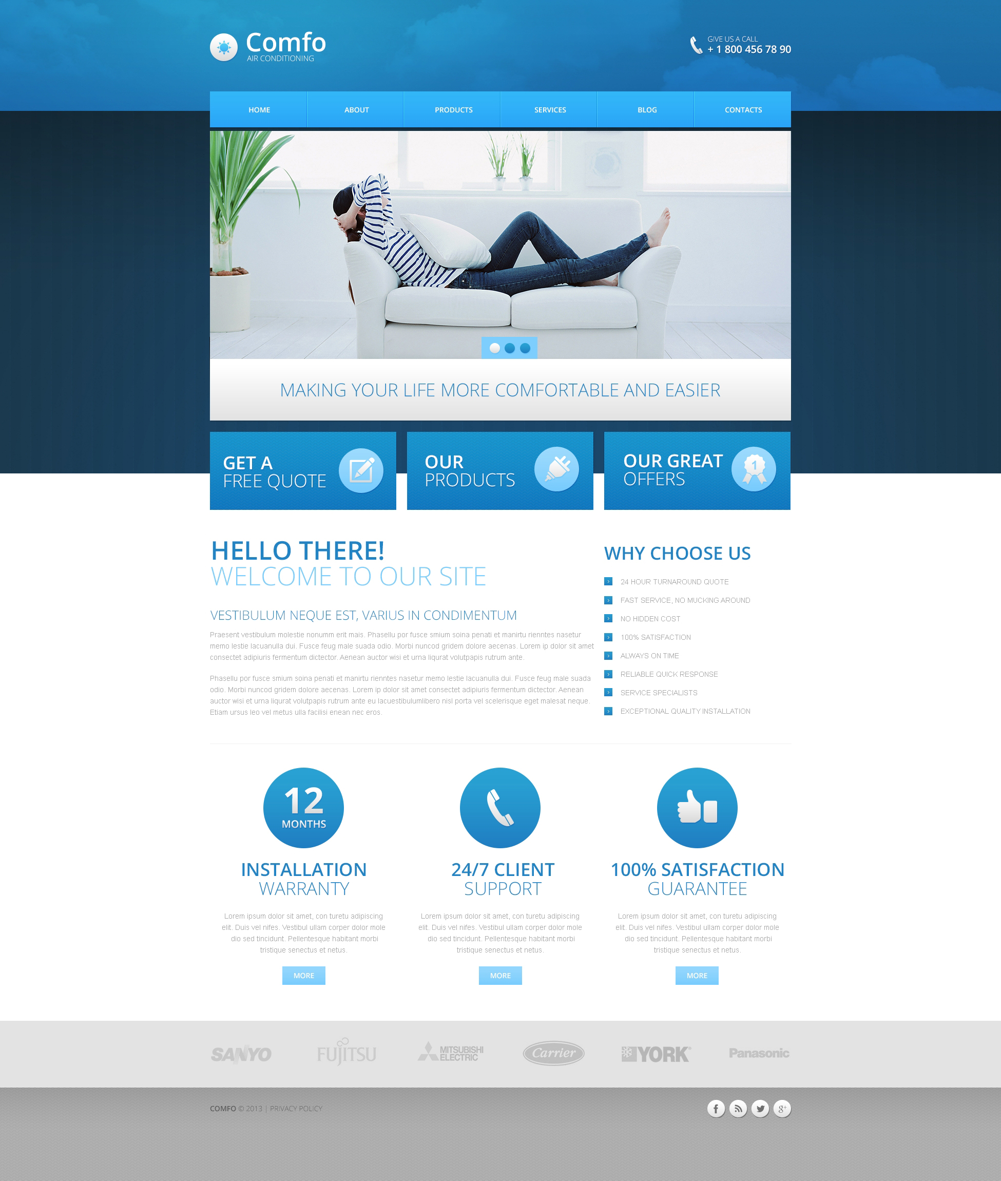 Air Conditioning Drupal Template