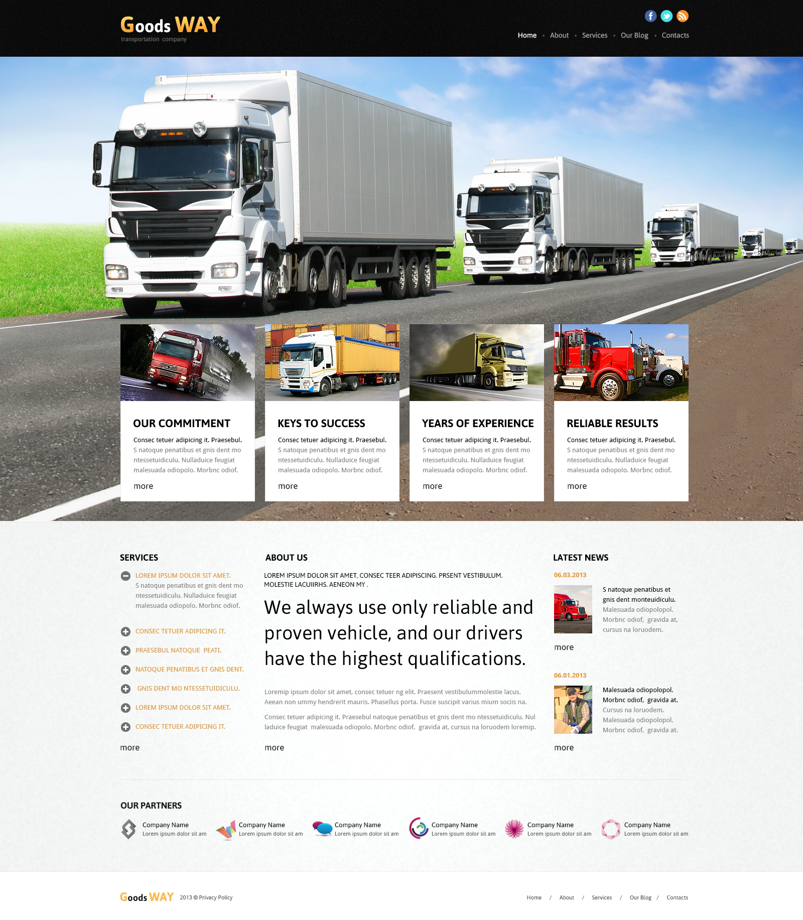 Bright Trucking Joomla Template