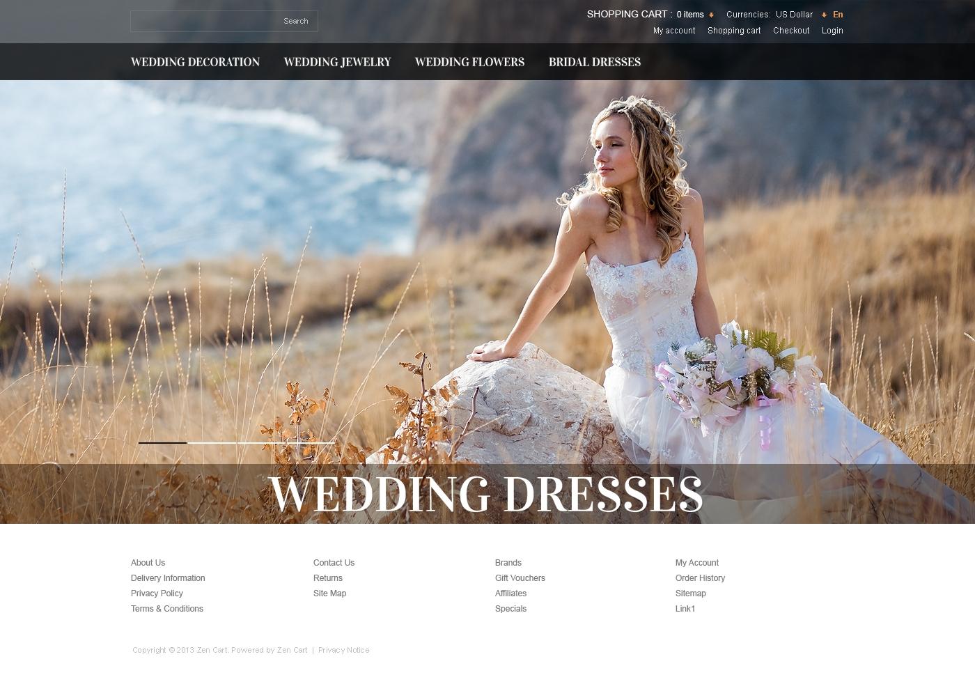 Wedding Dresses ZenCart Template
