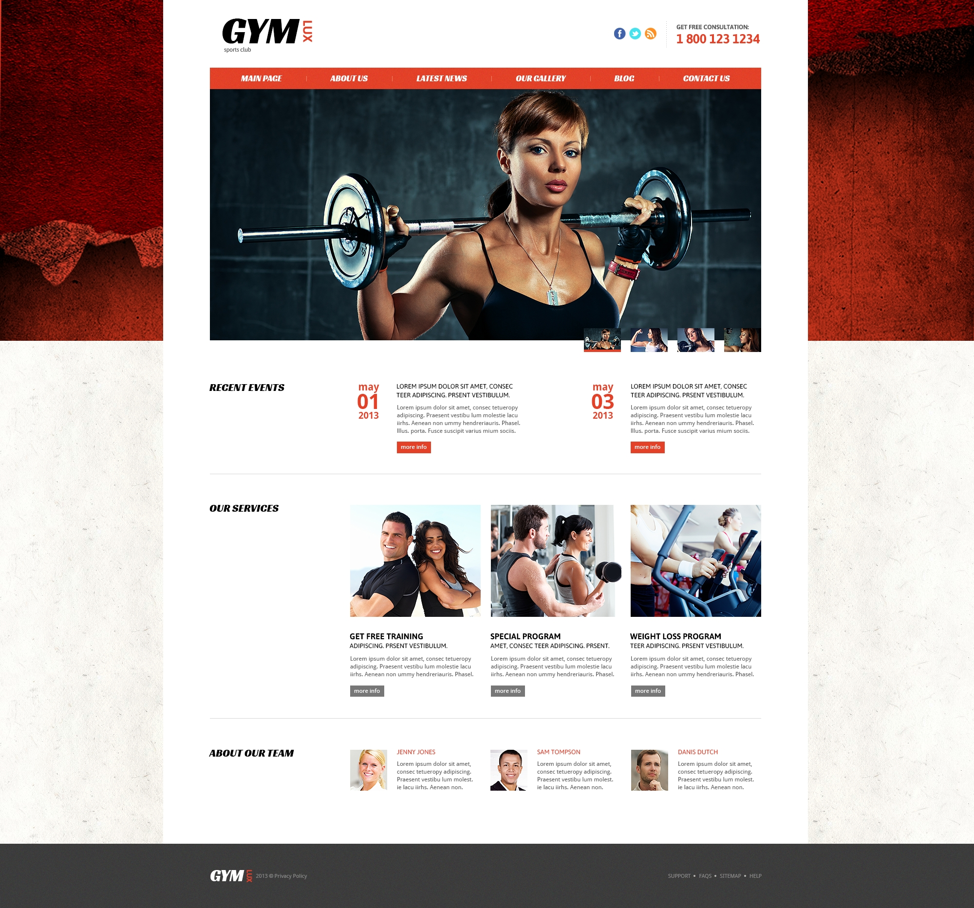 Gym for Health and Beauty Joomla Template
