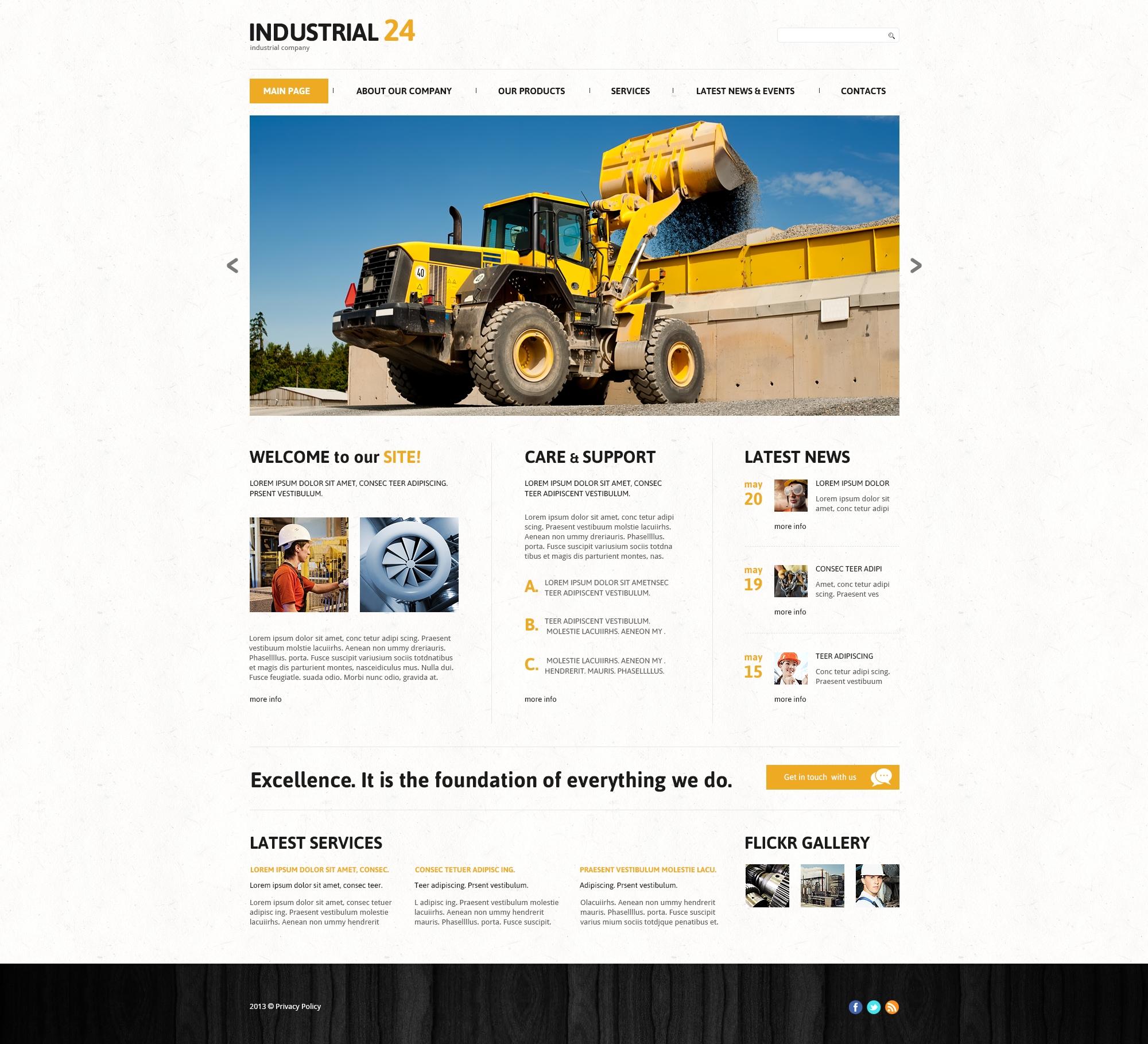 Creative Industrial Joomla Template