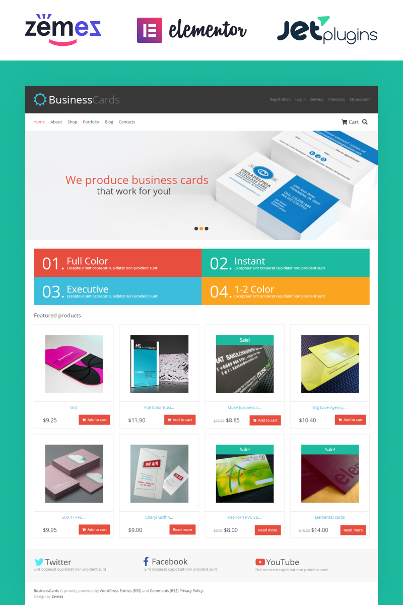 Business Cards Store WooCommerce Theme