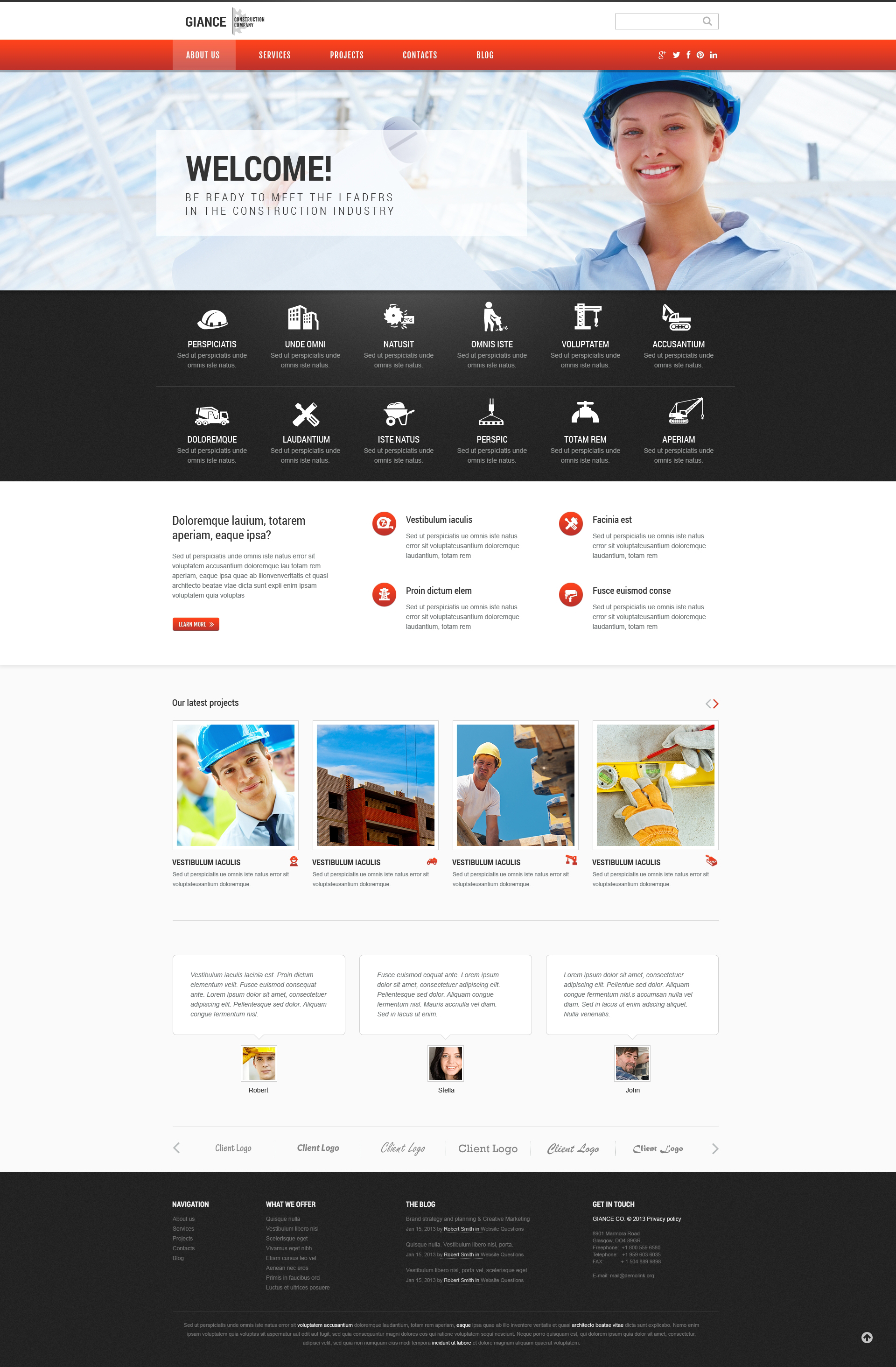 Effective Construction WordPress Theme