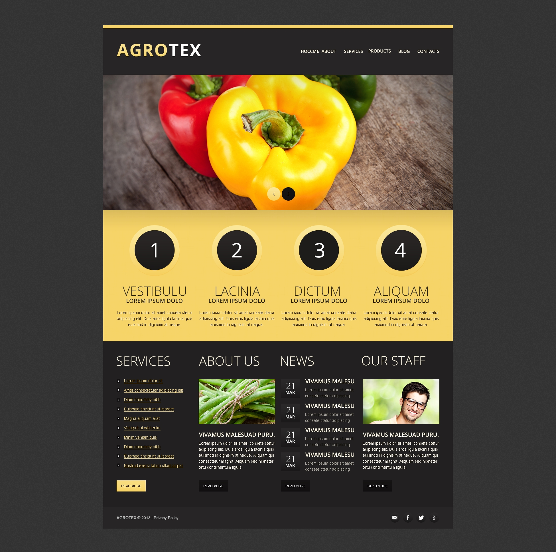 Vegetable Farm Drupal Template