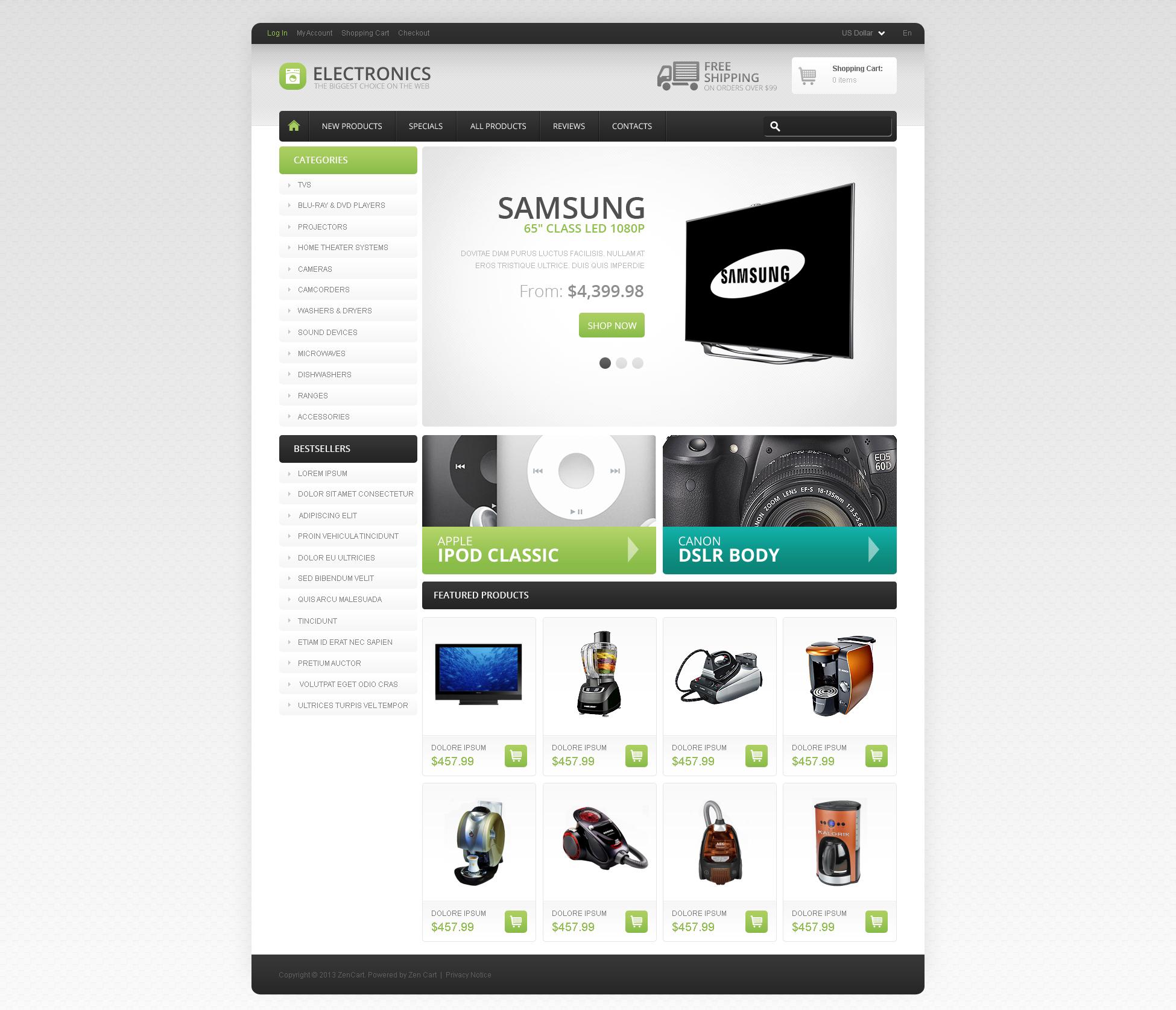 ZenCart Templates