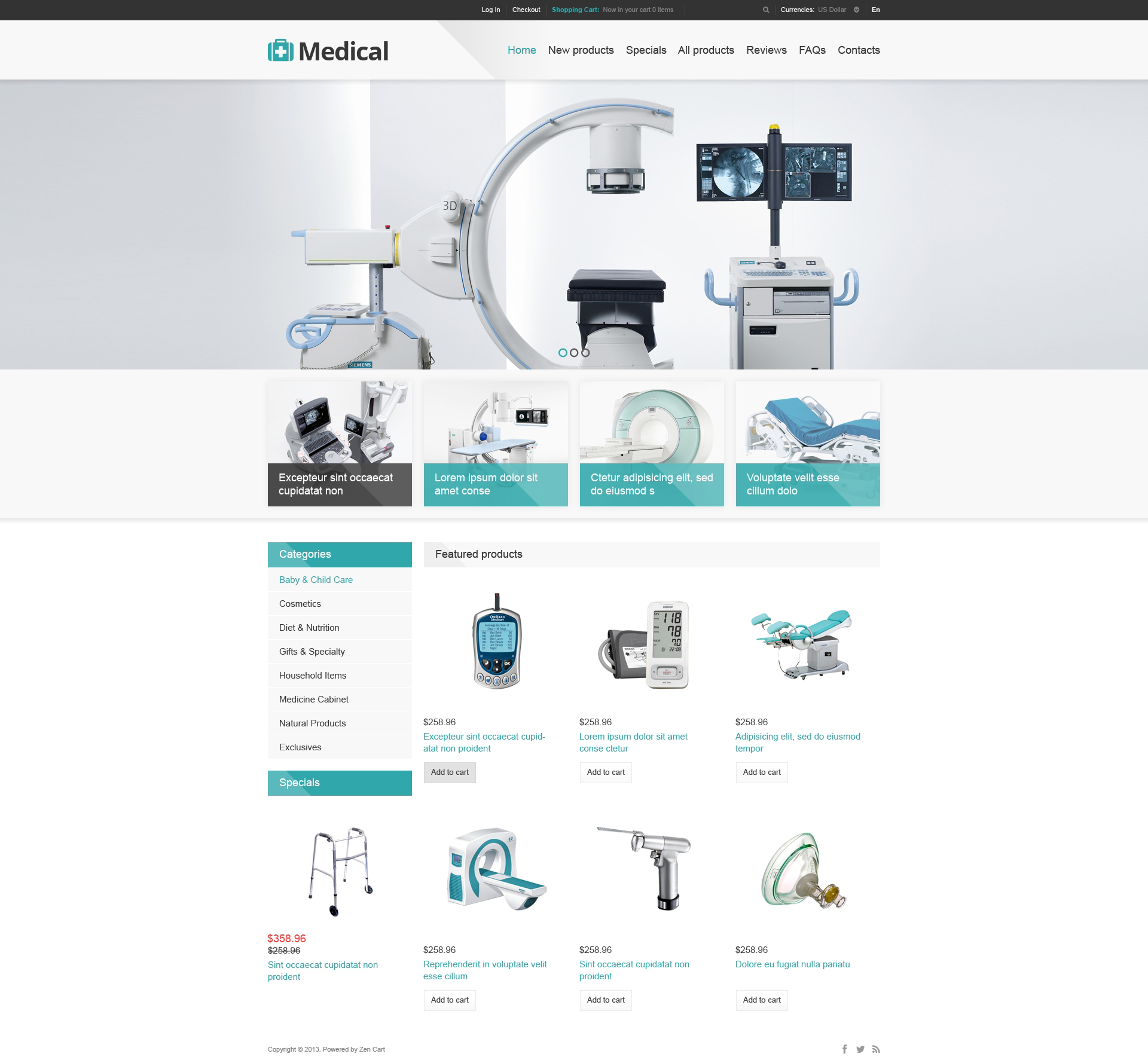 Medical Store ZenCart Template