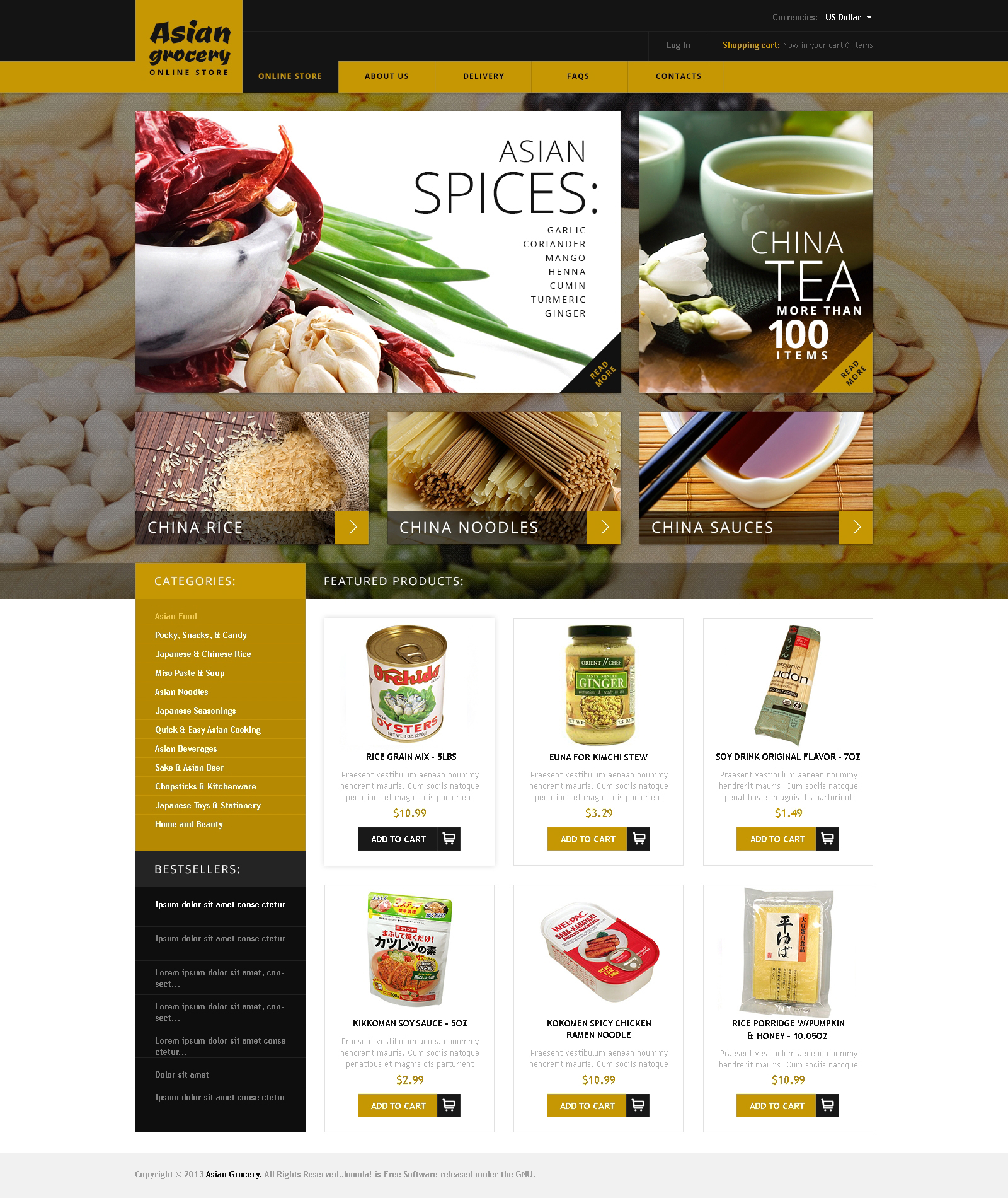 Asian Grocery VirtueMart Template