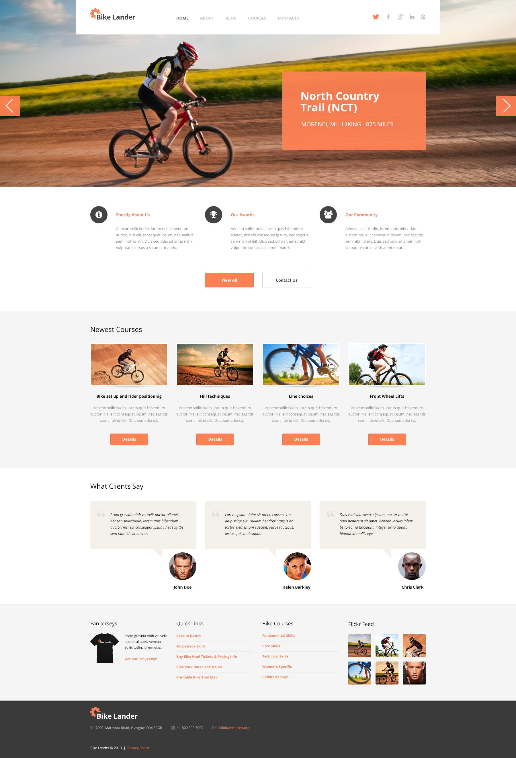 Cycling Club WordPress Theme