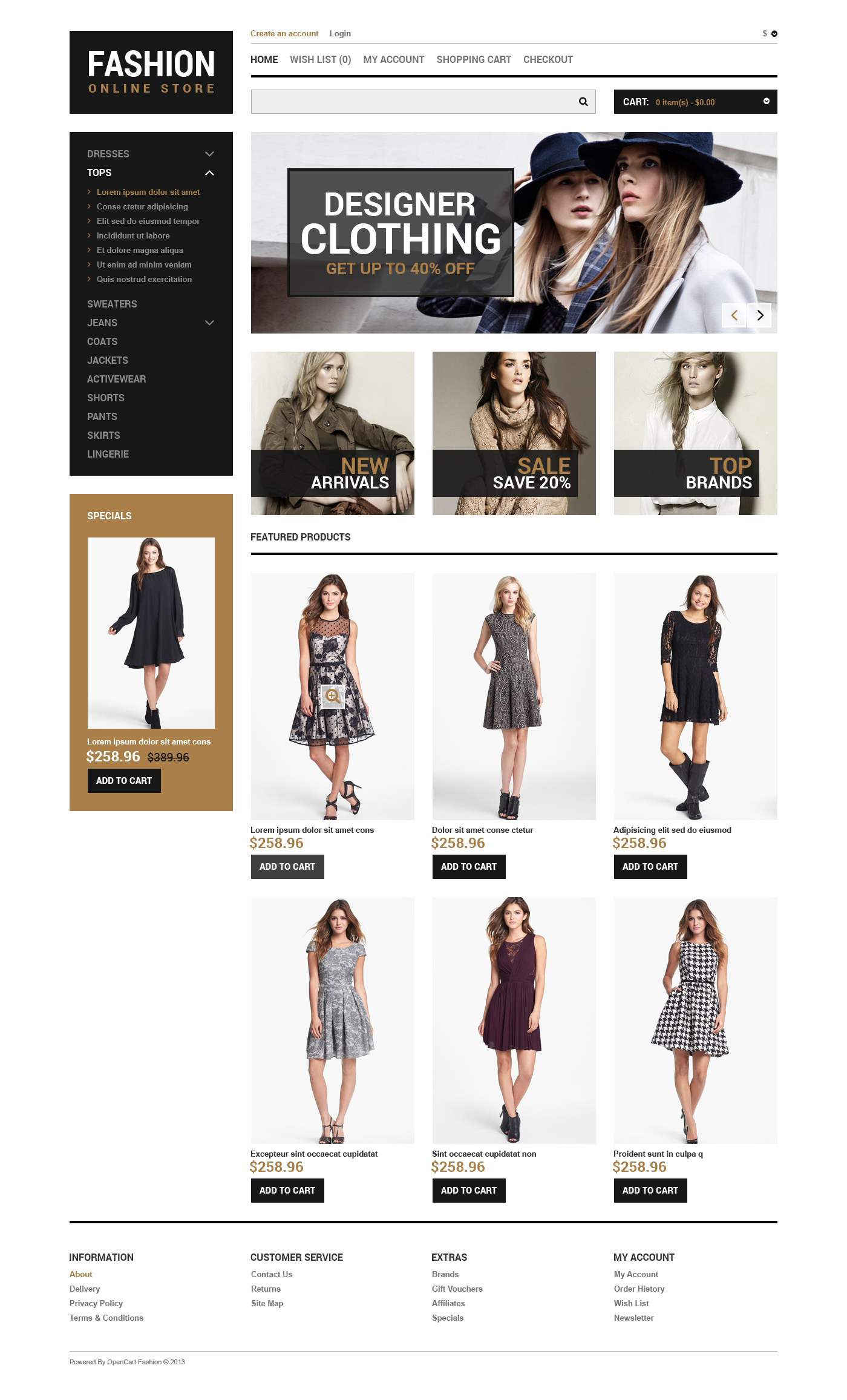 Fashion You Can Afford OpenCart Template