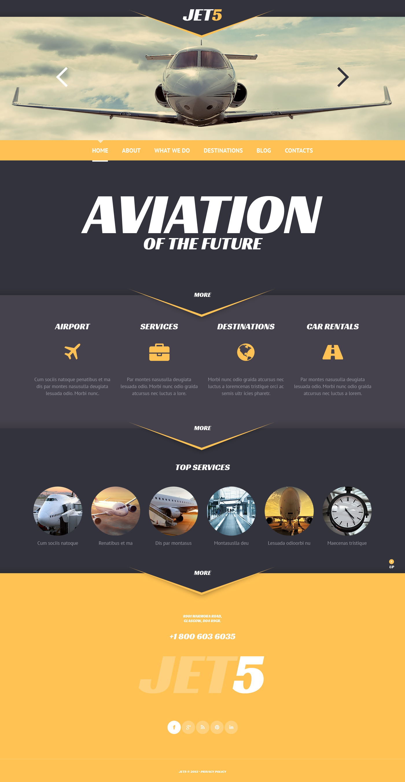 Private Airlines WordPress Theme