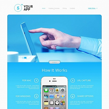 Template Software Moto CMS HTML #47034