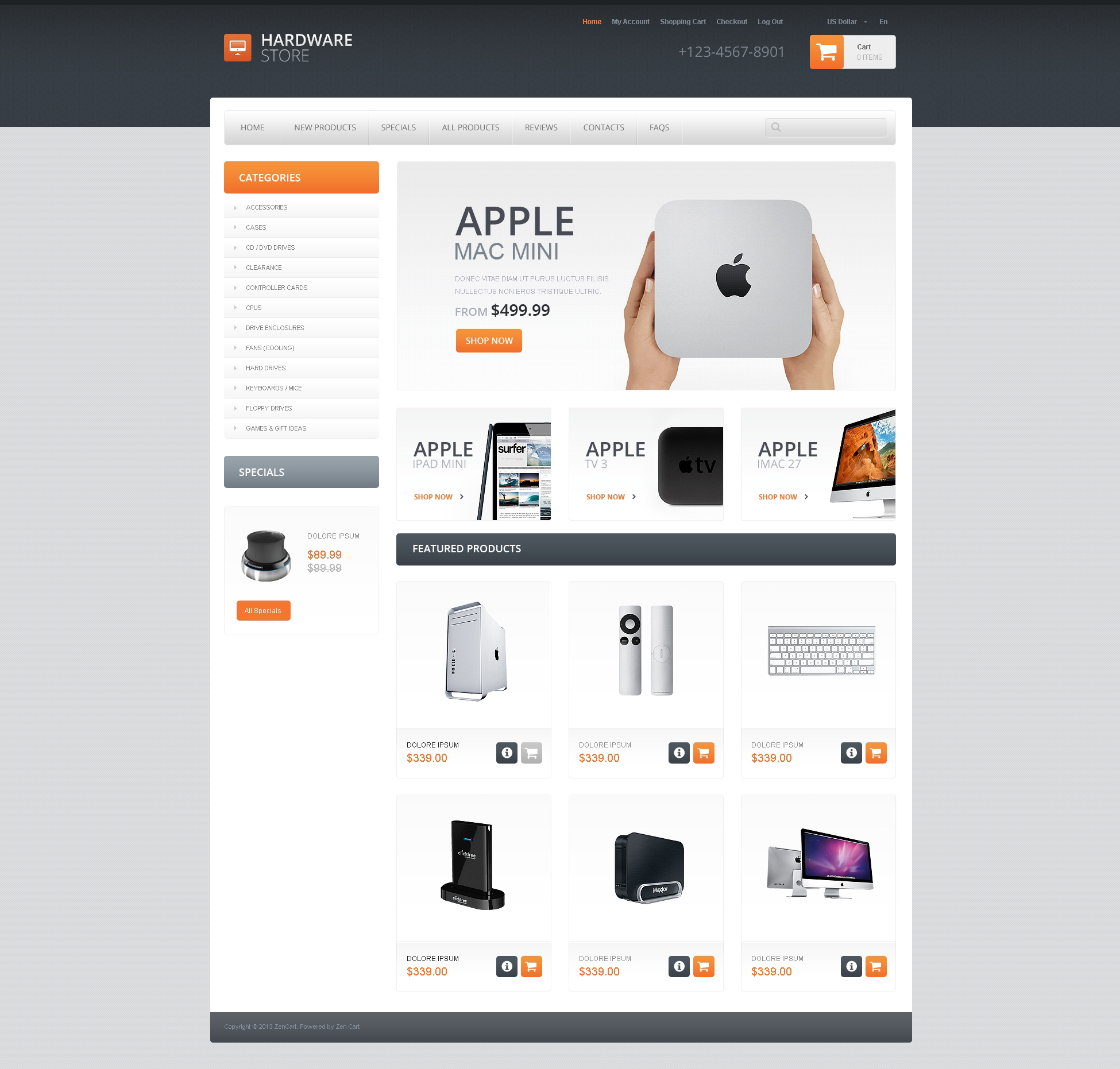 Quality Hardware ZenCart Template
