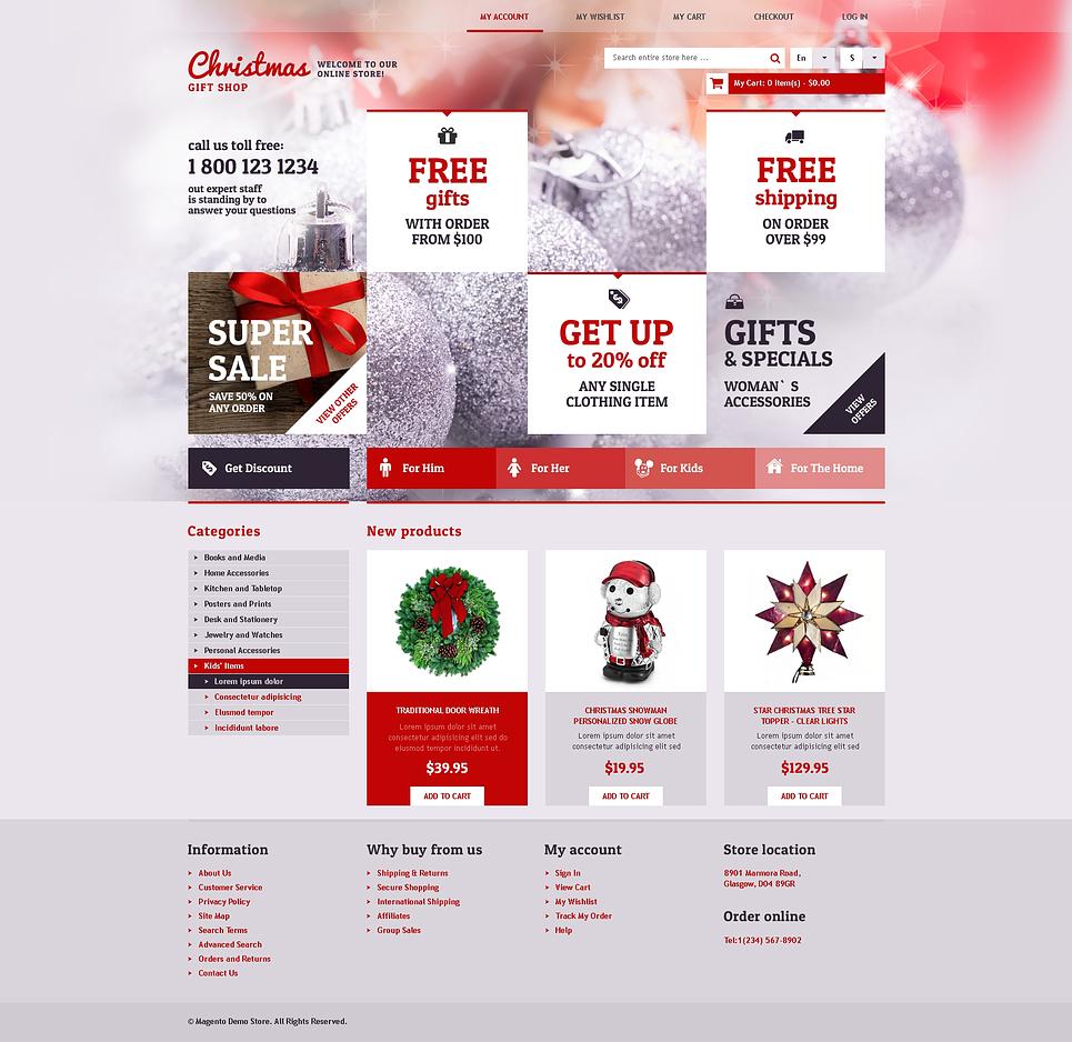 christmas gift shop magento theme properhost