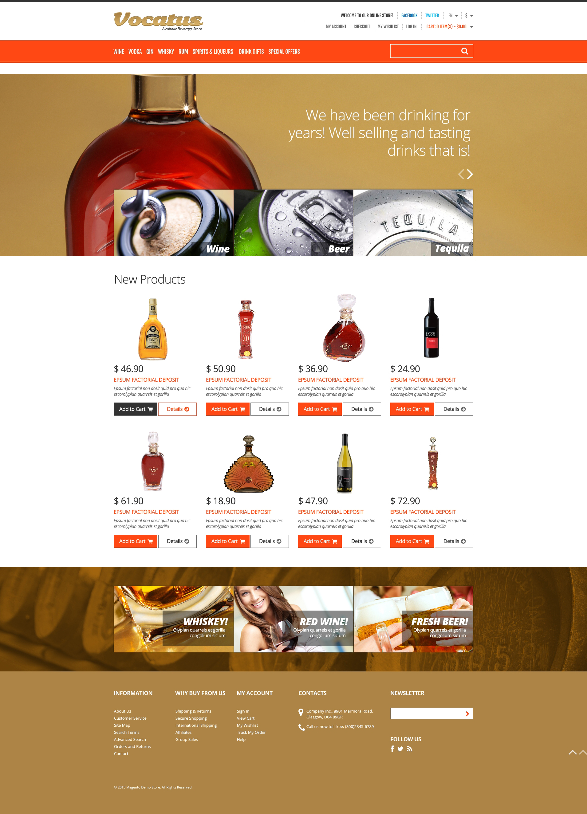 Alcohol for Your Party Magento Theme