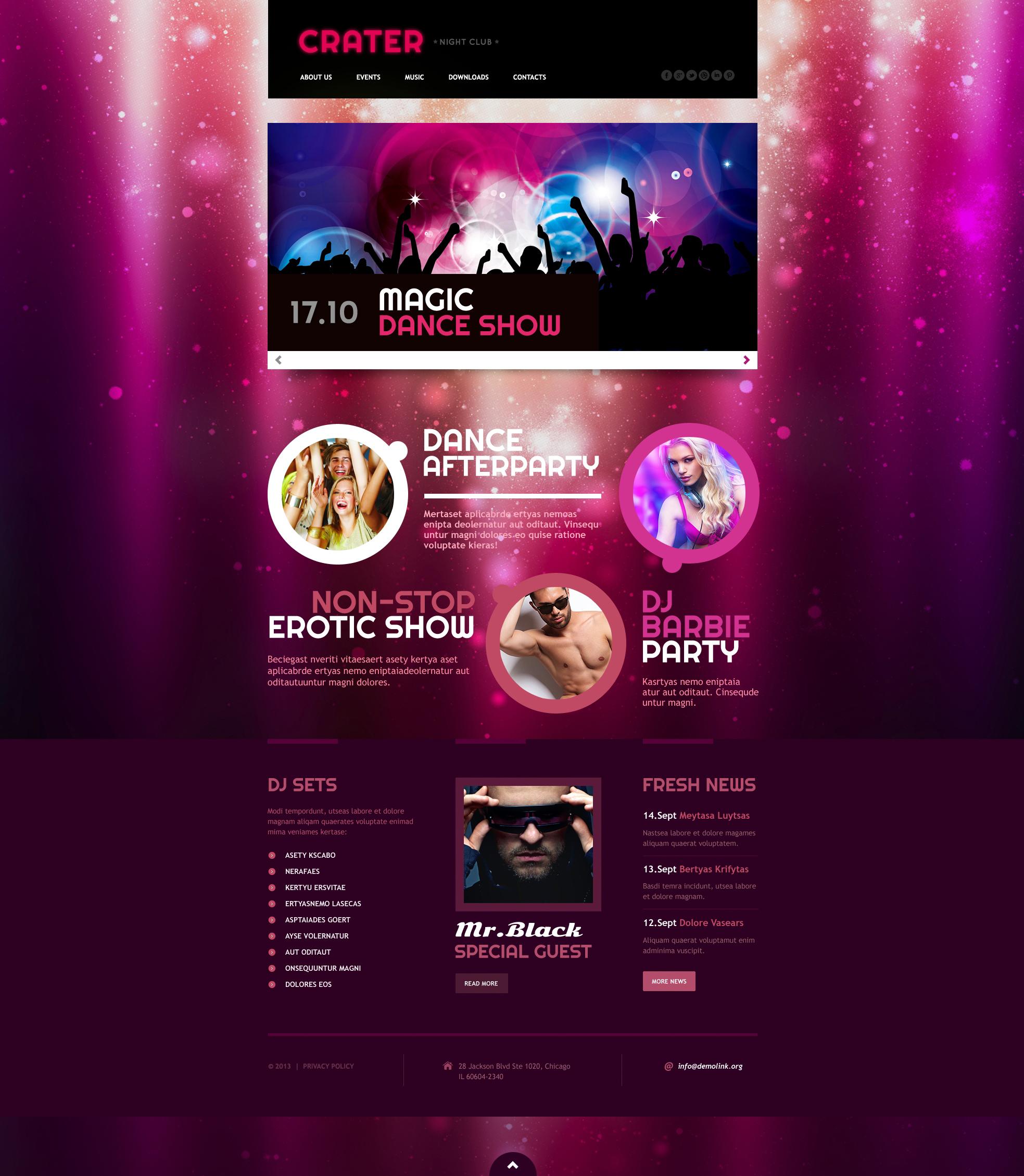 Night Club Responsive Website Template
