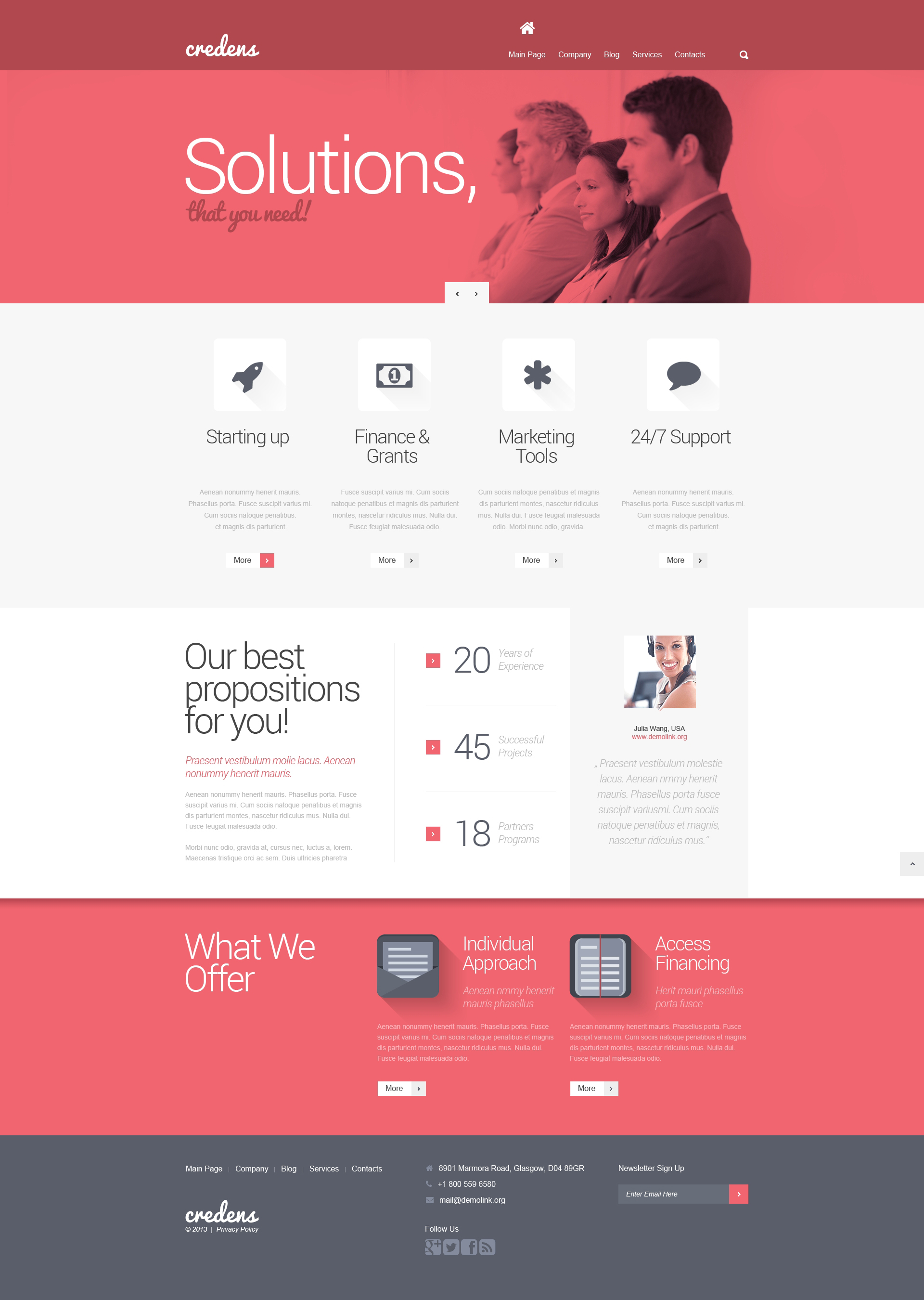 Business for Bold Start WordPress Theme