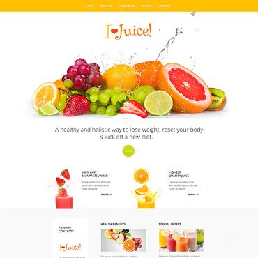 Template Mâncare și băutură HTML, JS şi CSS #47422