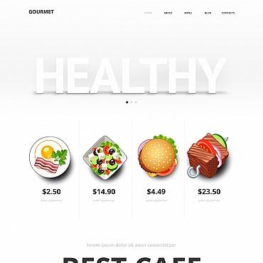 Template Mâncare și băutură Moto CMS HTML #47461
