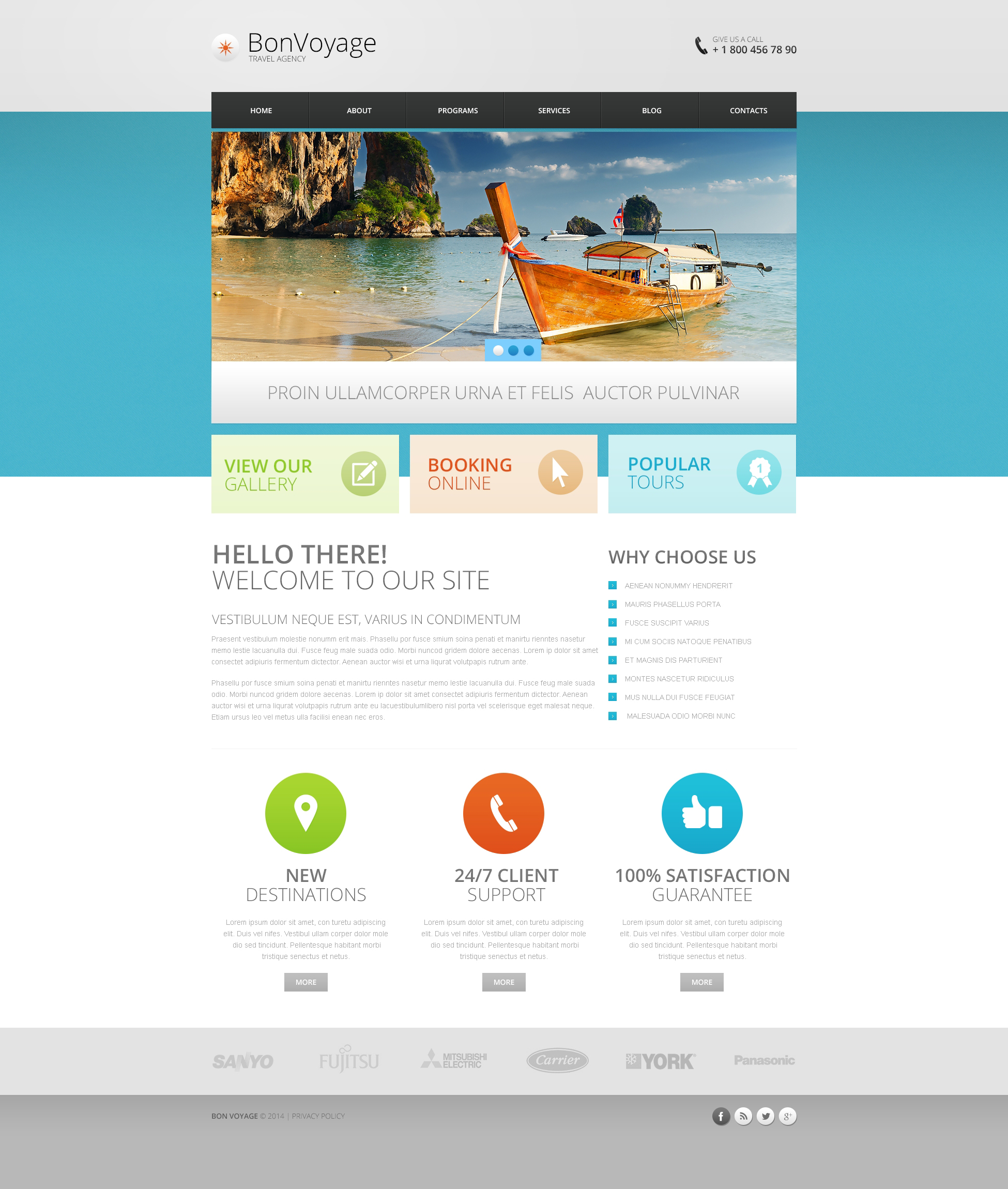 Travel Agency Responsive Drupal Template