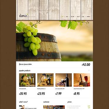 Template Mâncare și băutură WordPress #47541
