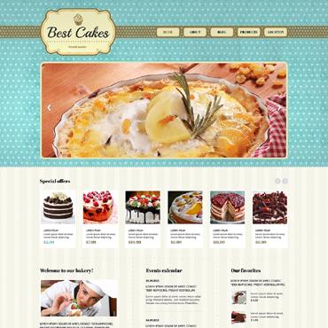 Template Mâncare și băutură HTML, JS şi CSS #47639