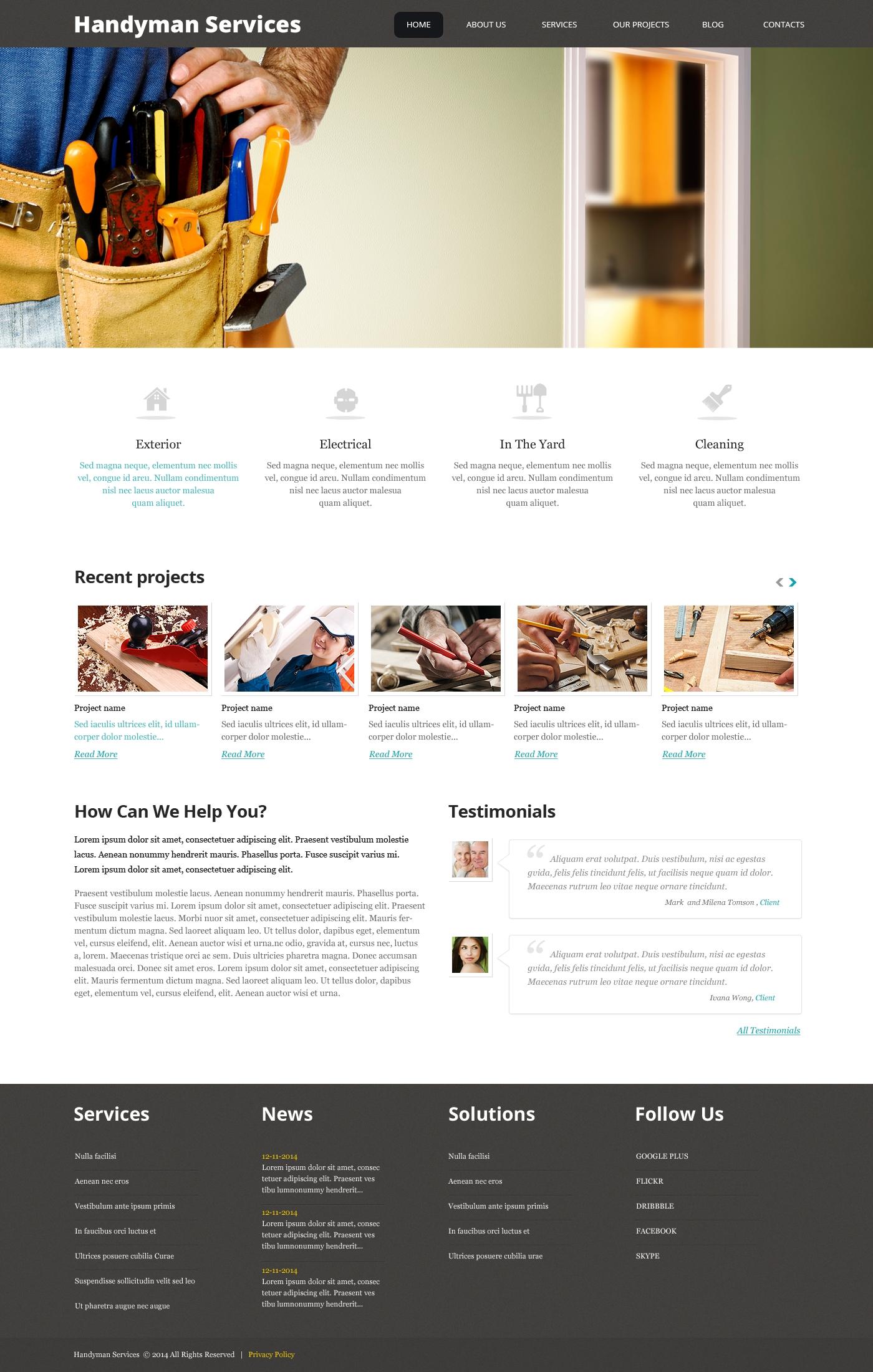 WordPress CMS Πρότυπα