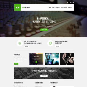 Template Muzică HTML, JS şi CSS #47897