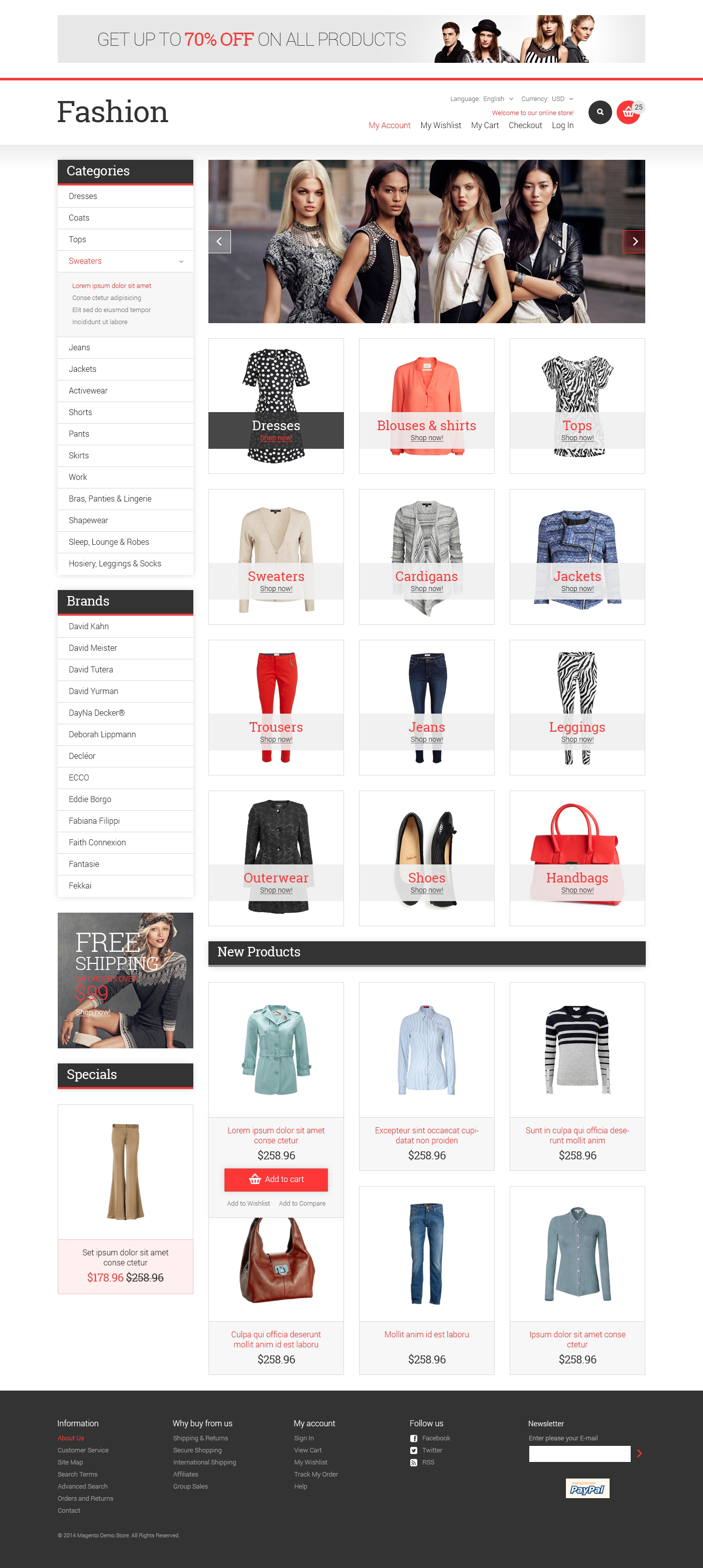 Fashion Store Responsive Magento Theme
