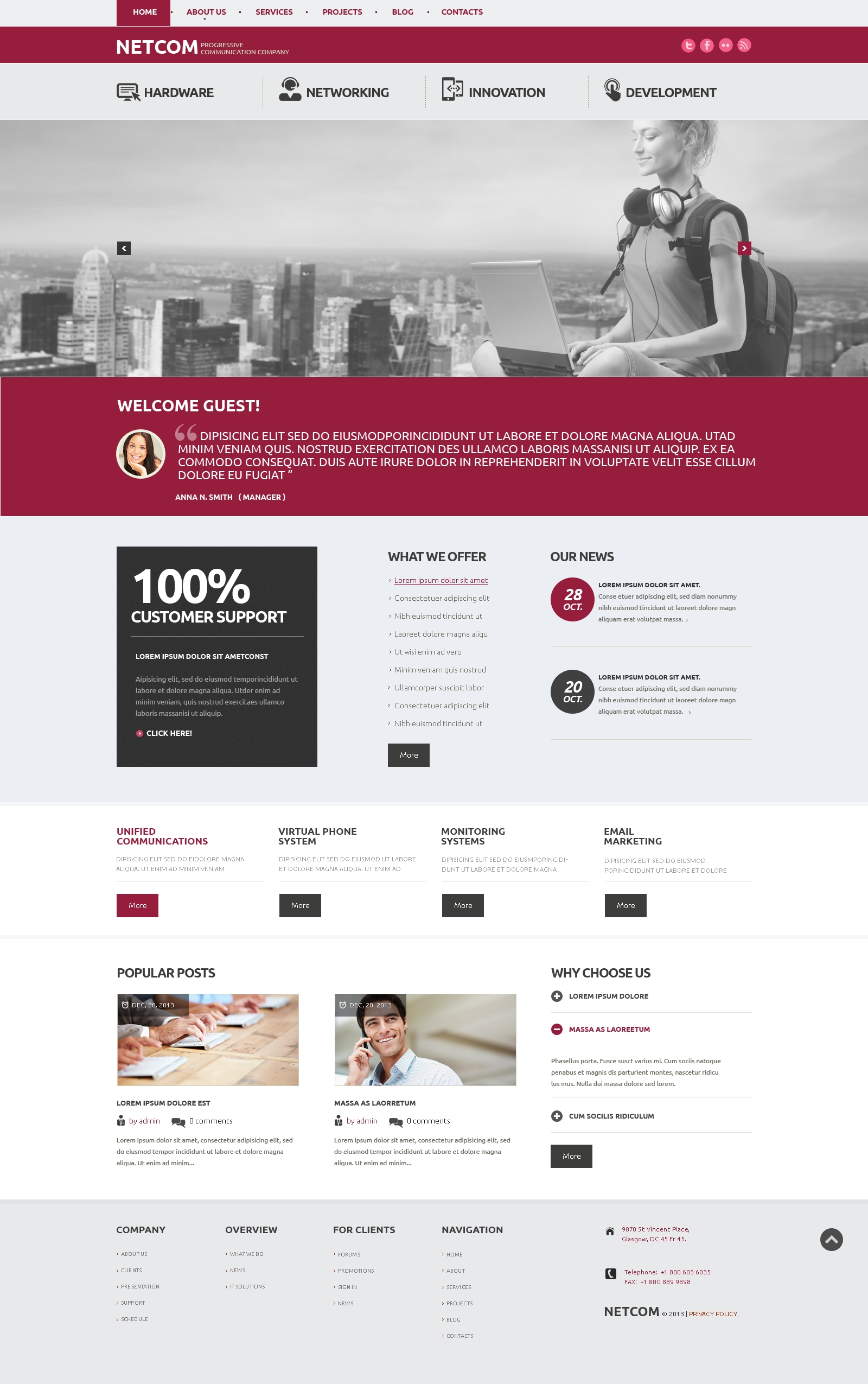 Communication Company WordPress Theme