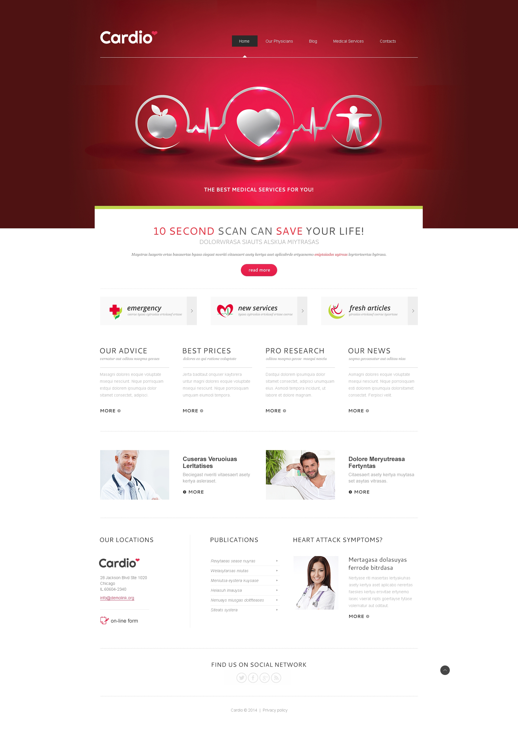 Medical Services Joomla Template