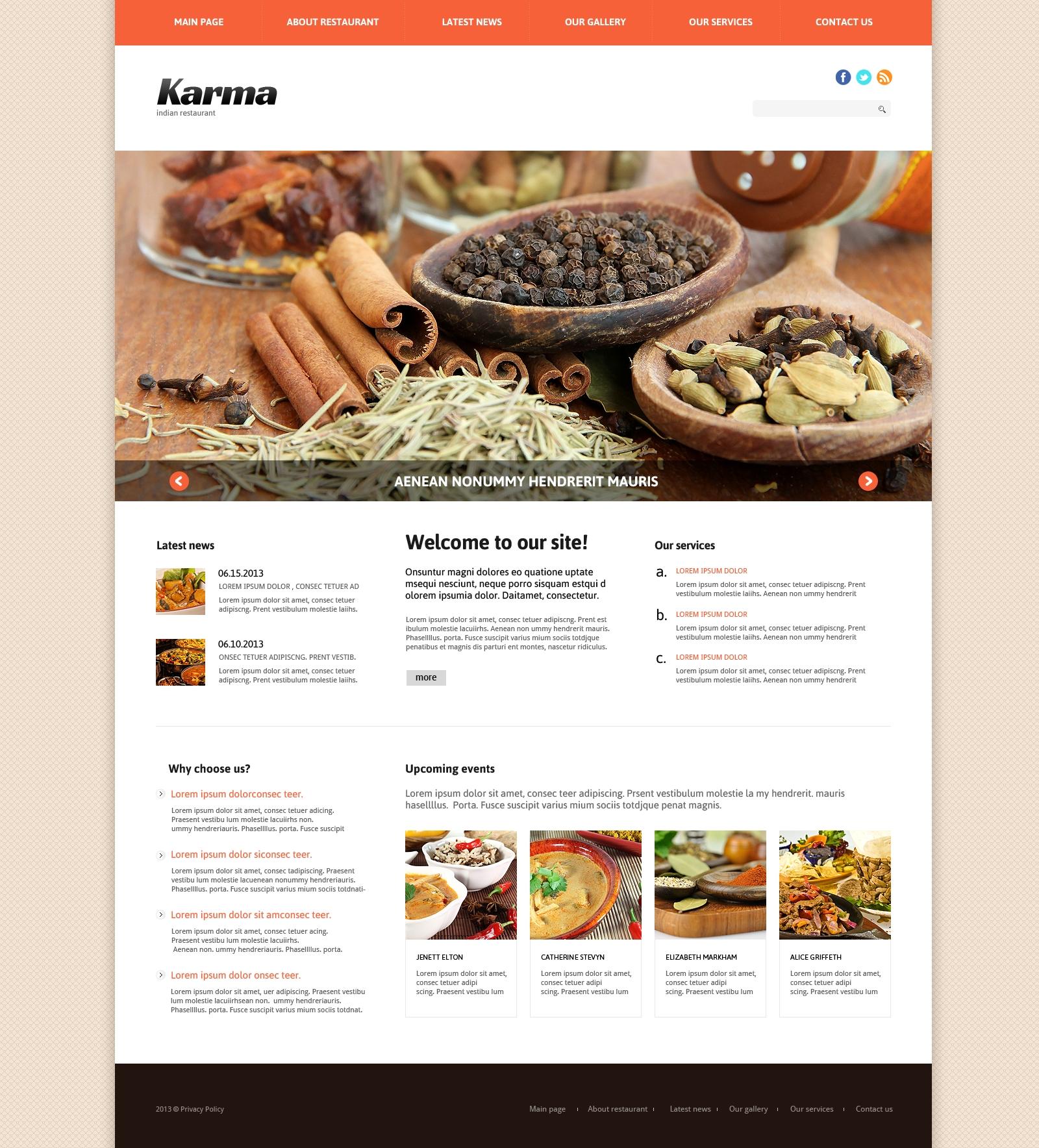 Indian Restaurant Responsive Joomla Template