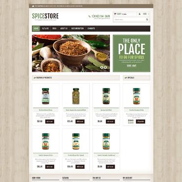 Template Mâncare și băutură Shopify #48025