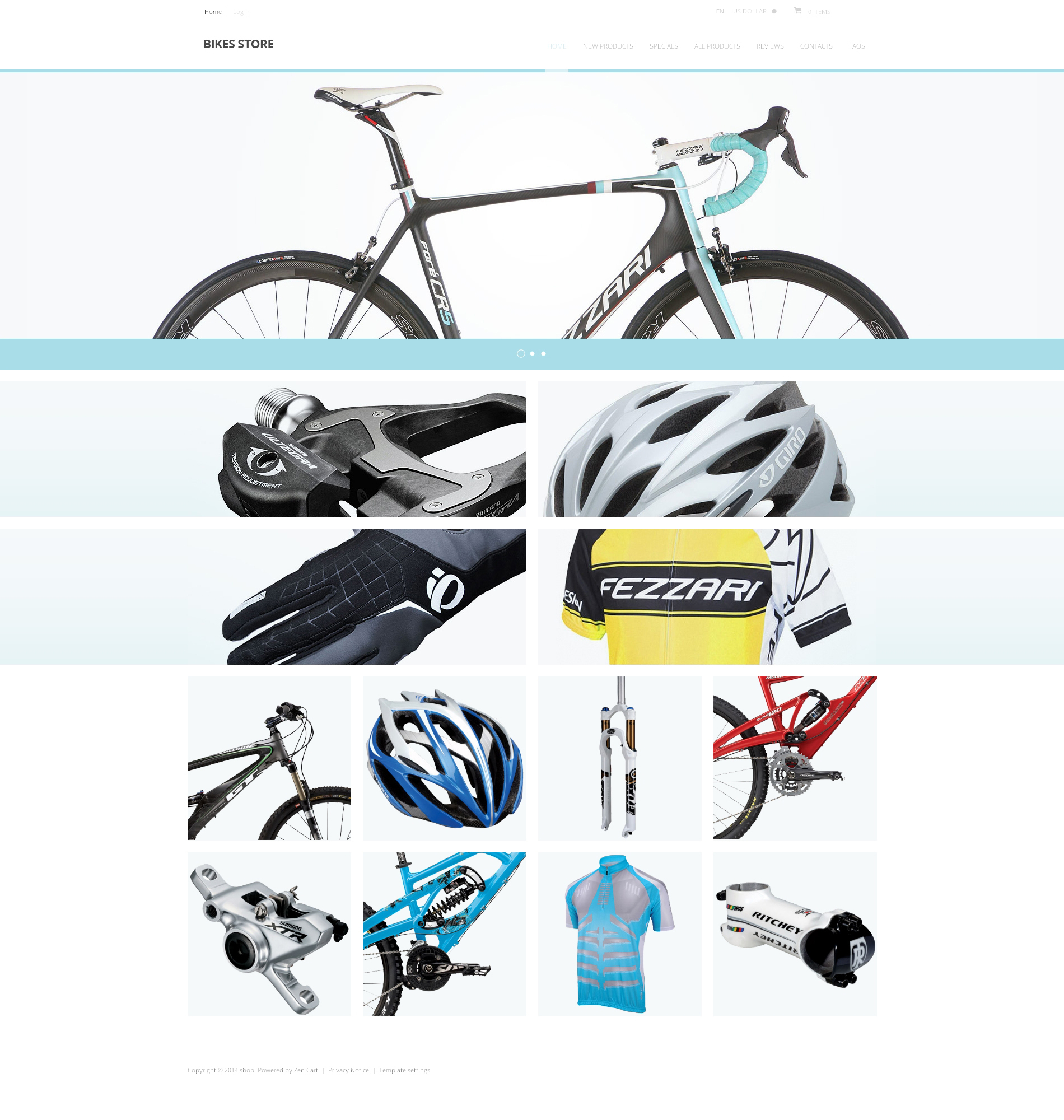 Bikes Store ZenCart Template