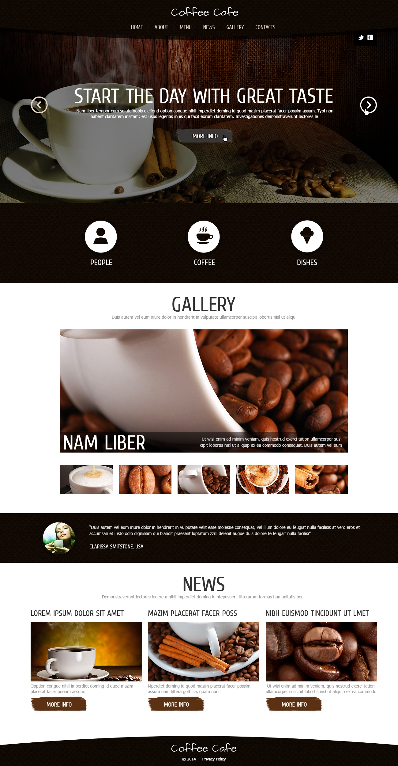 Coffee for Freshness Joomla Template