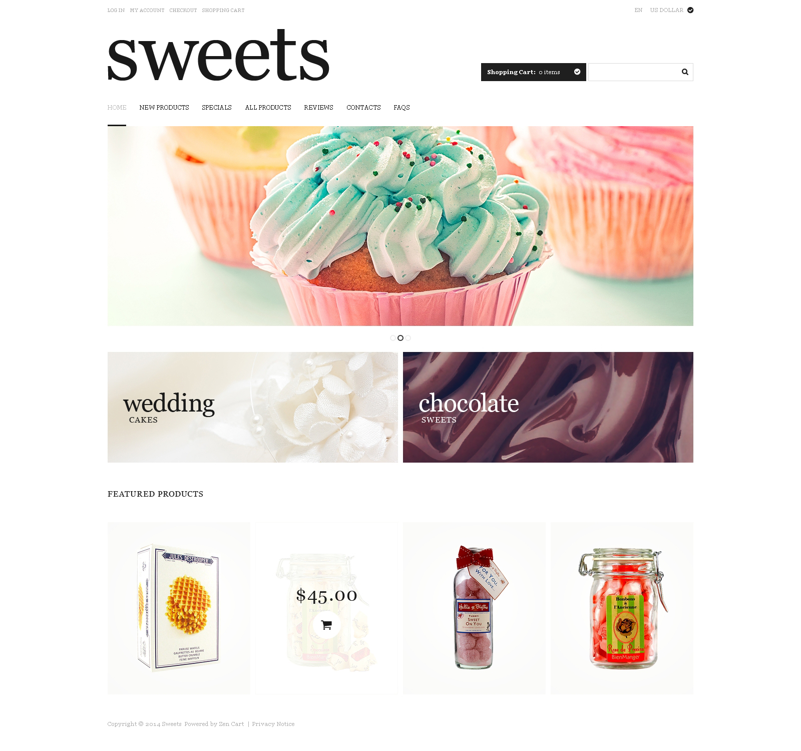 Sweet Life ZenCart Template