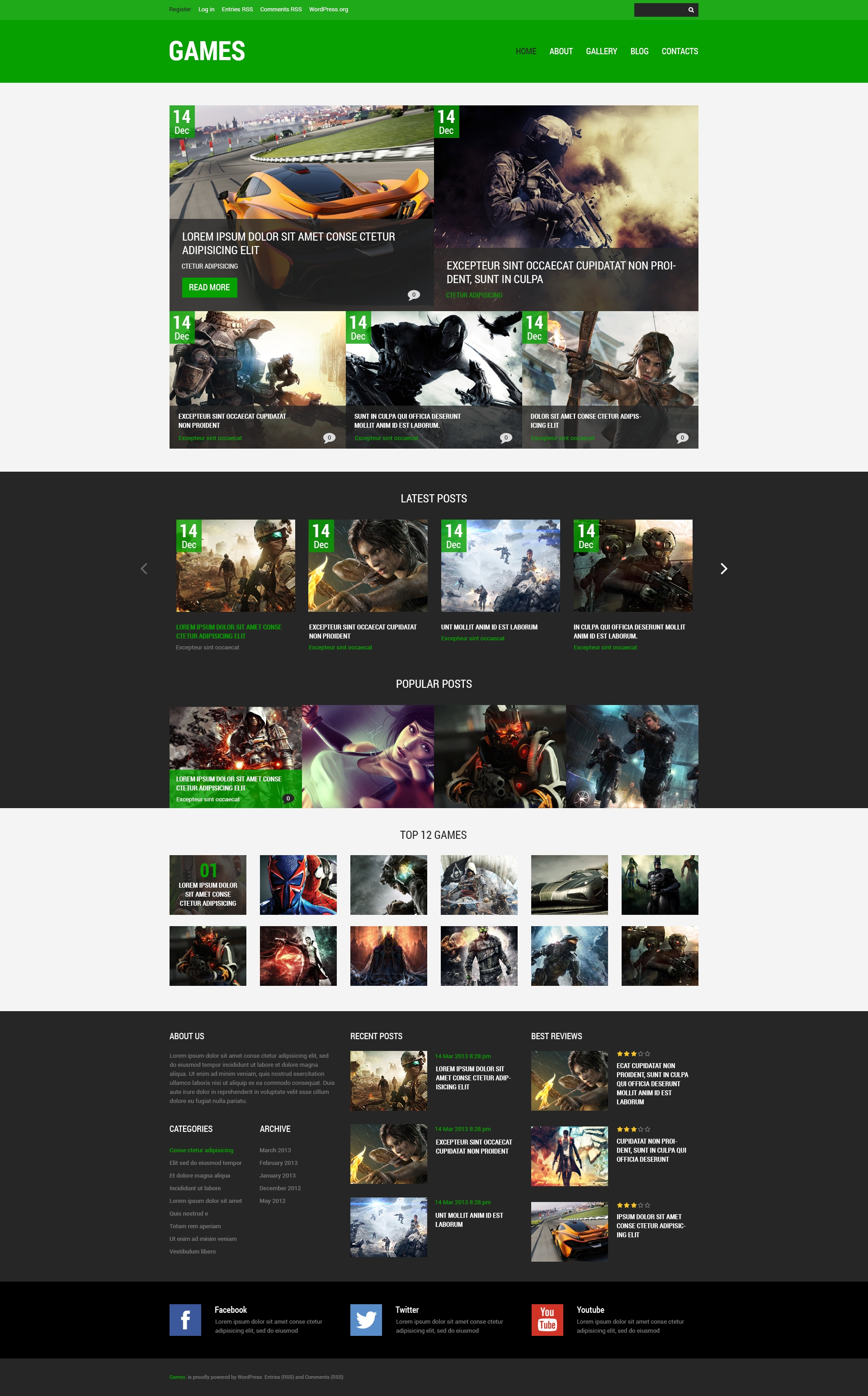 game portal wordpress theme free download
