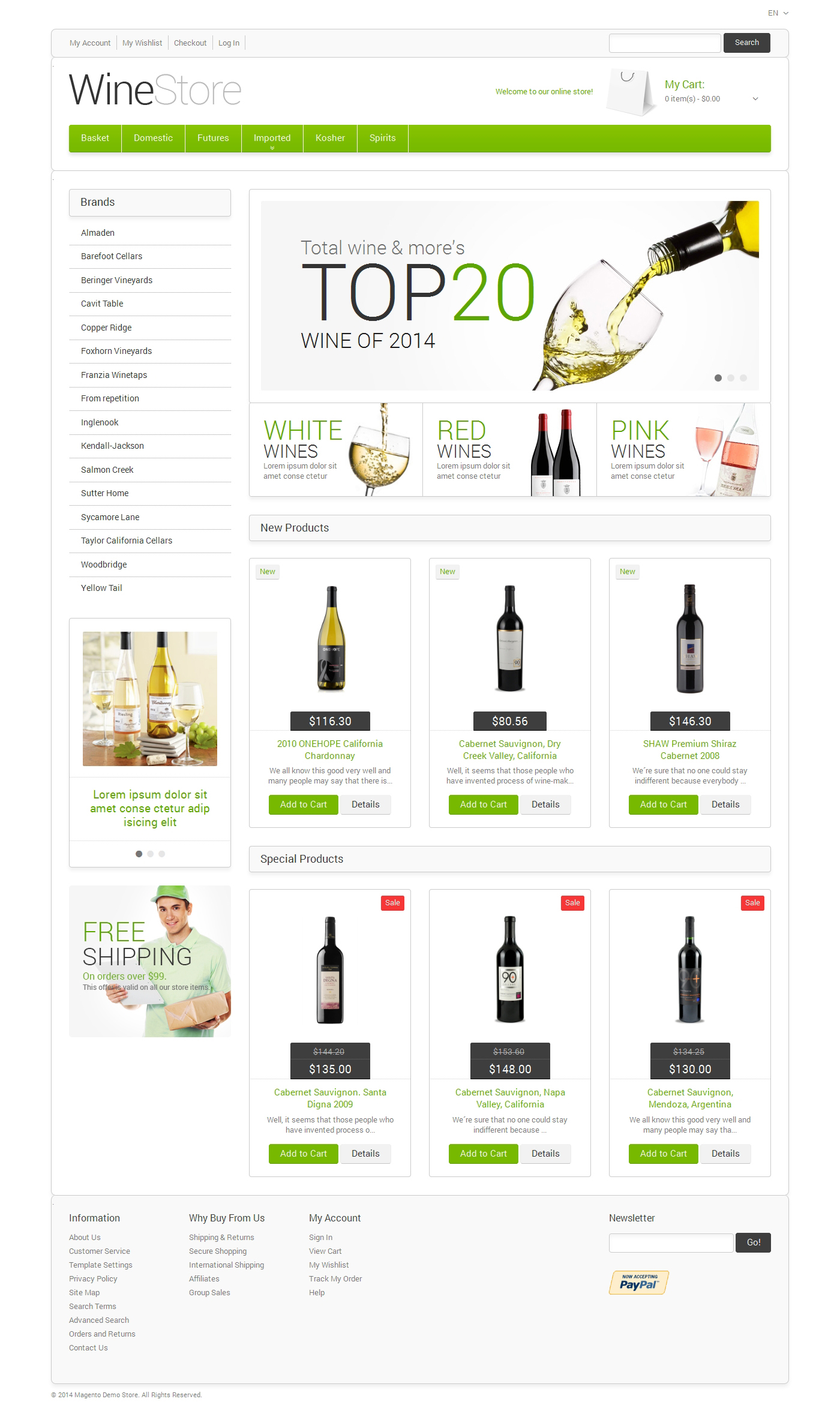 Wine for Your Delight Magento Theme