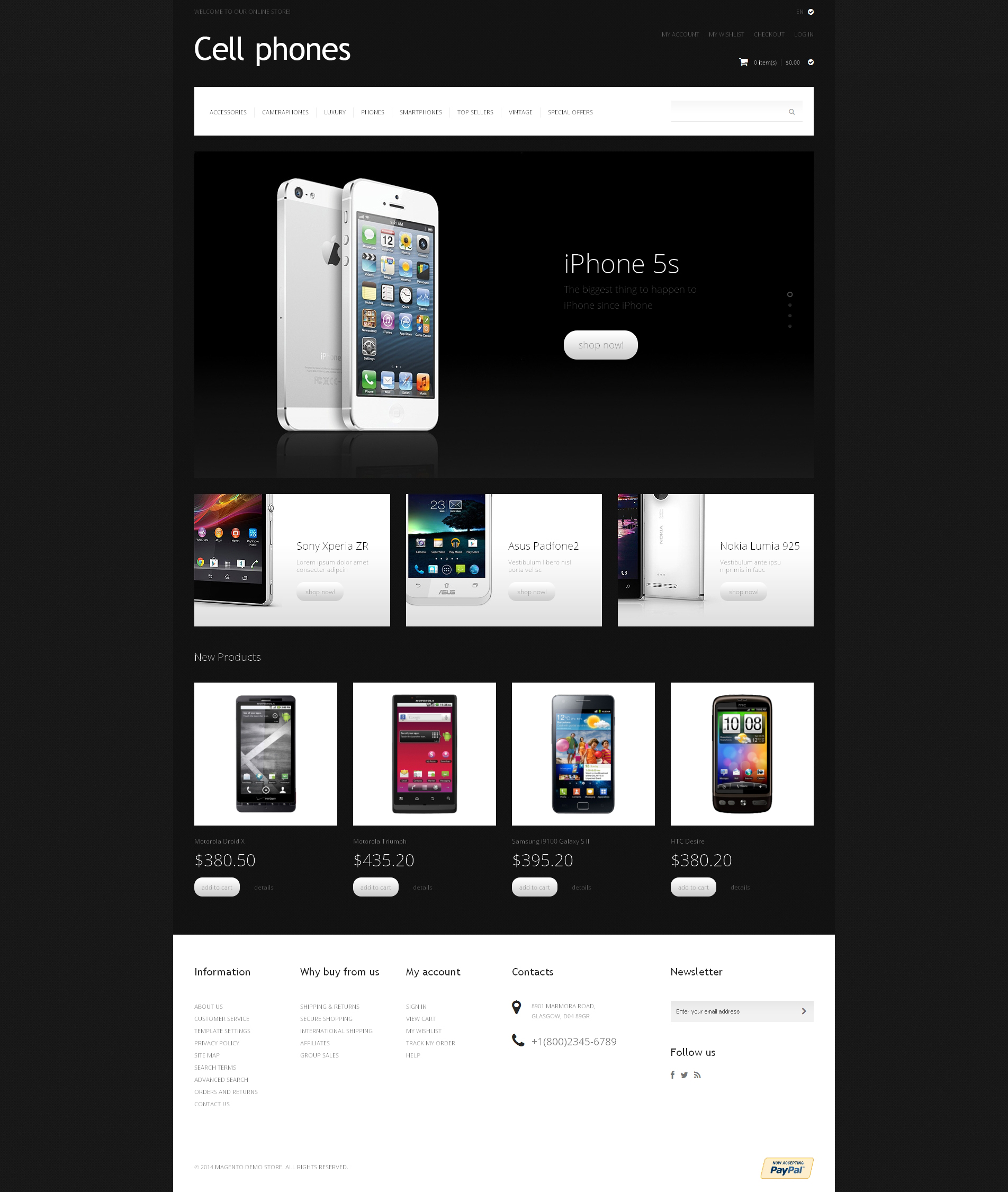 Cell Phones Magento Theme