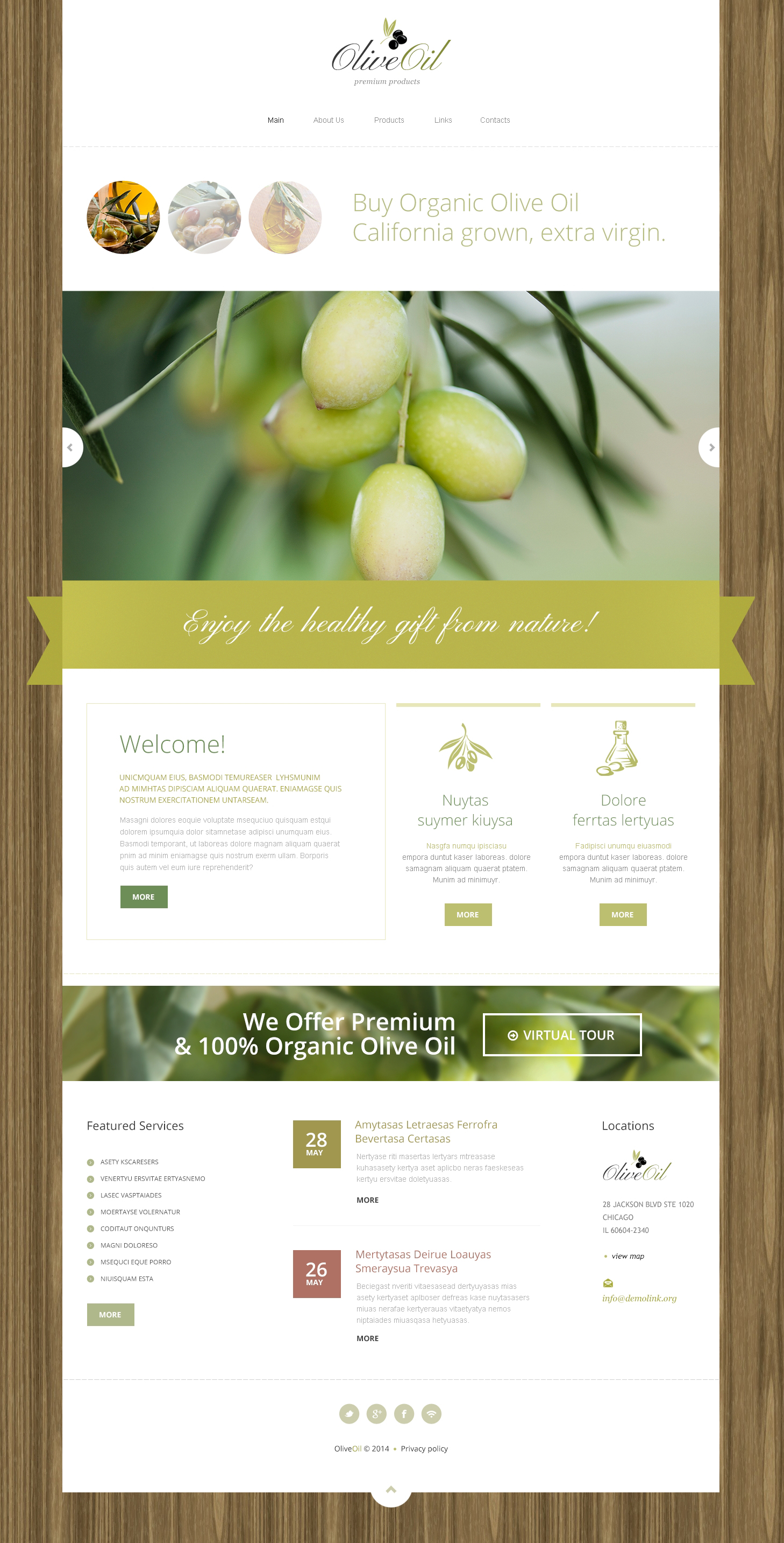 Olive Oil Company Drupal Template