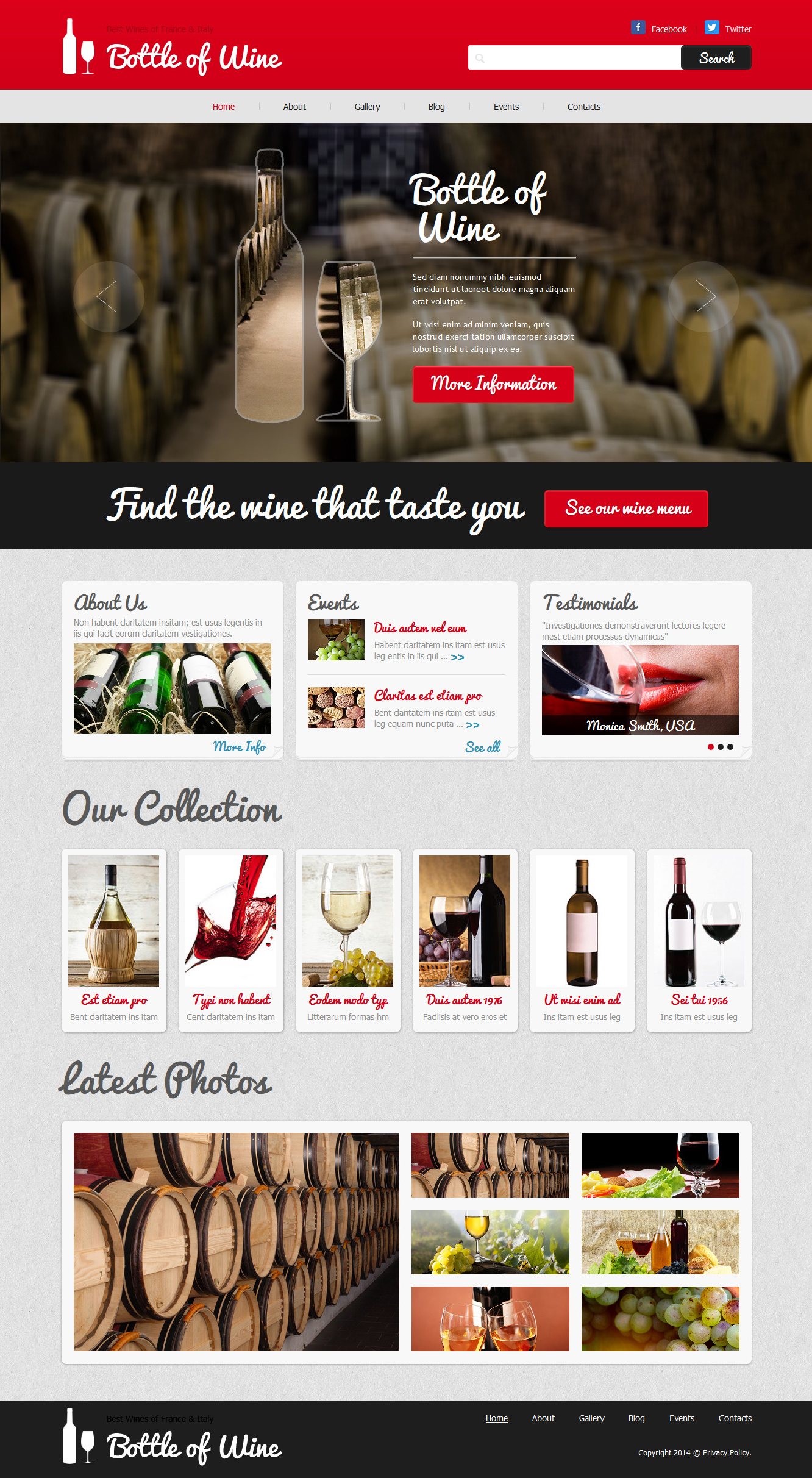 Bottle of Wine - Wine Elegant Joomla Template