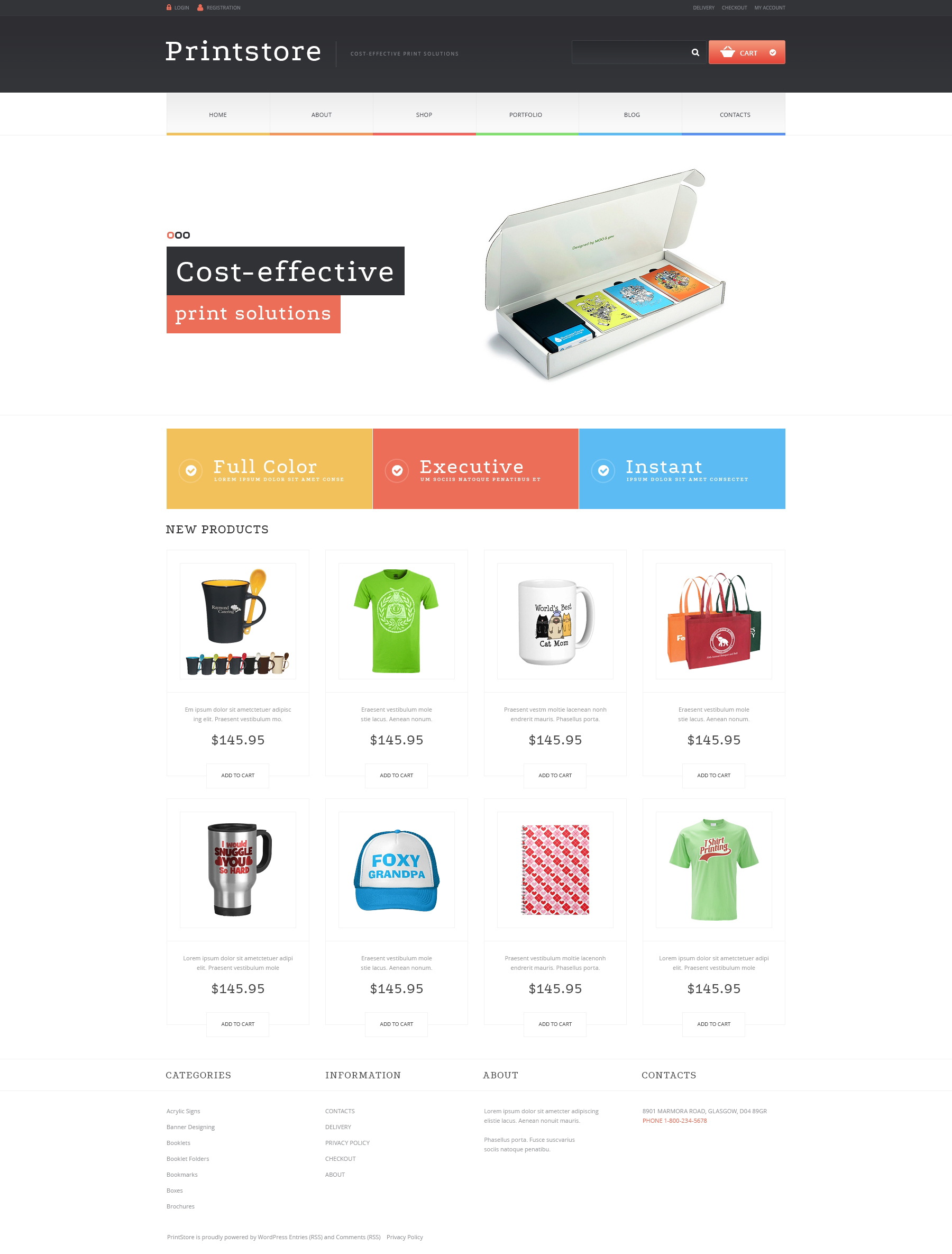 Print Shop Responsive WooCommerce Theme