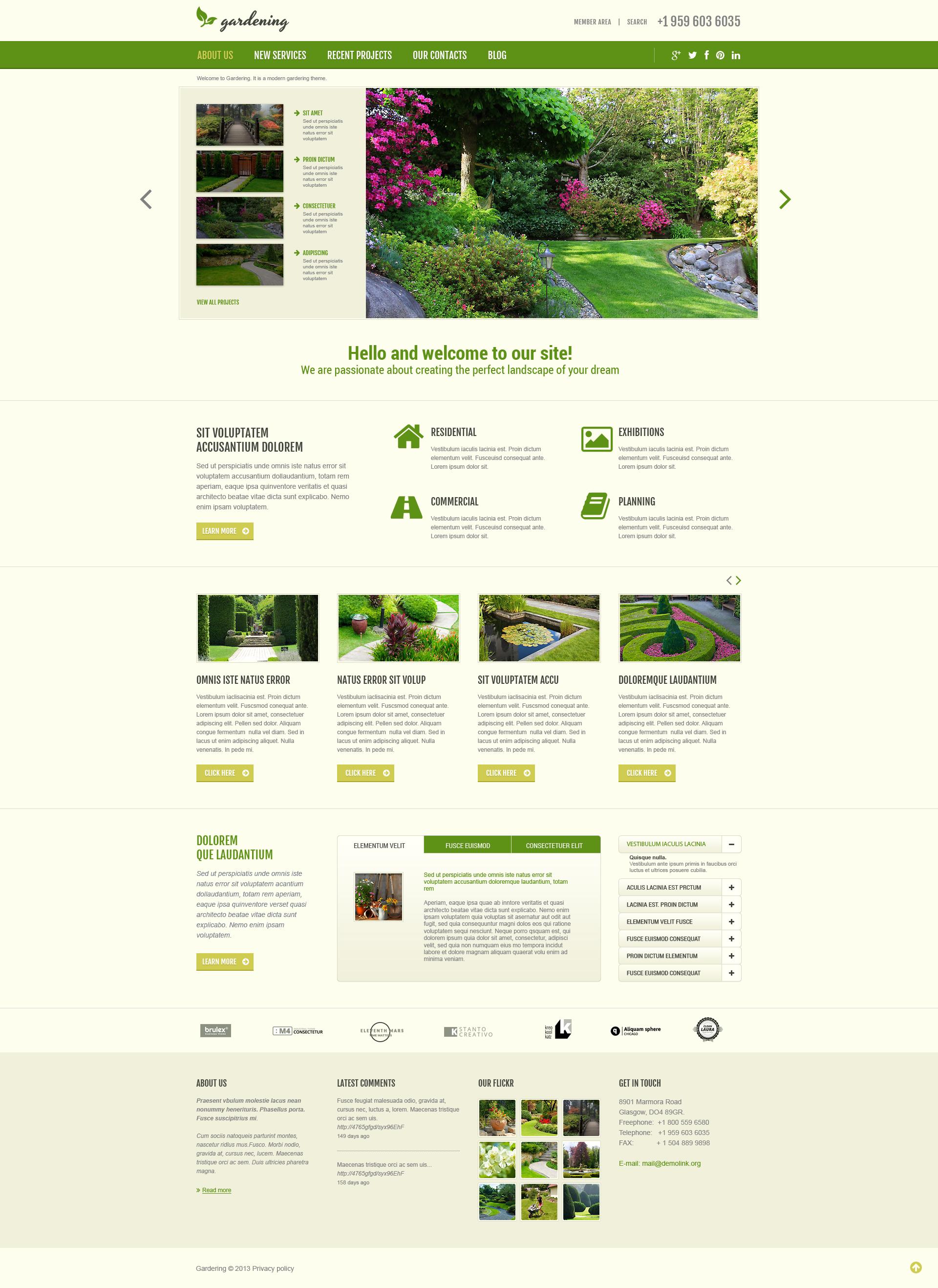 Garden Design Responsive Joomla Template