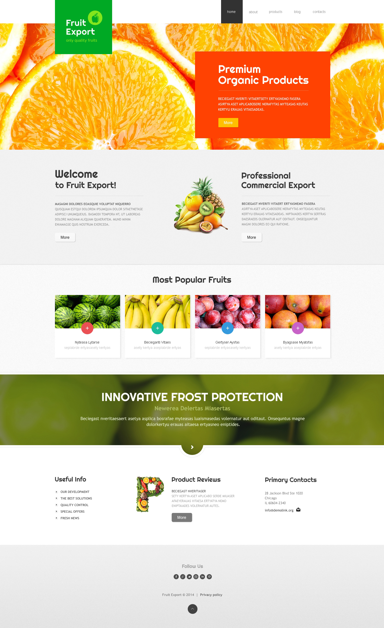 Fruit Export Joomla Template
