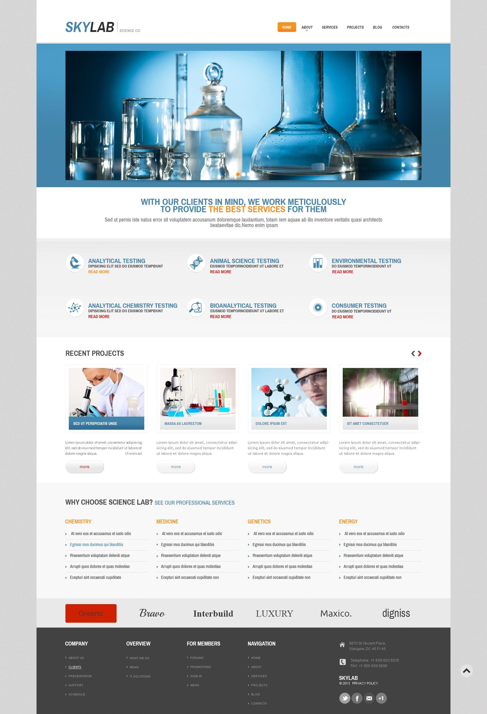 Multi-Purpose Chem Lab WordPress Theme