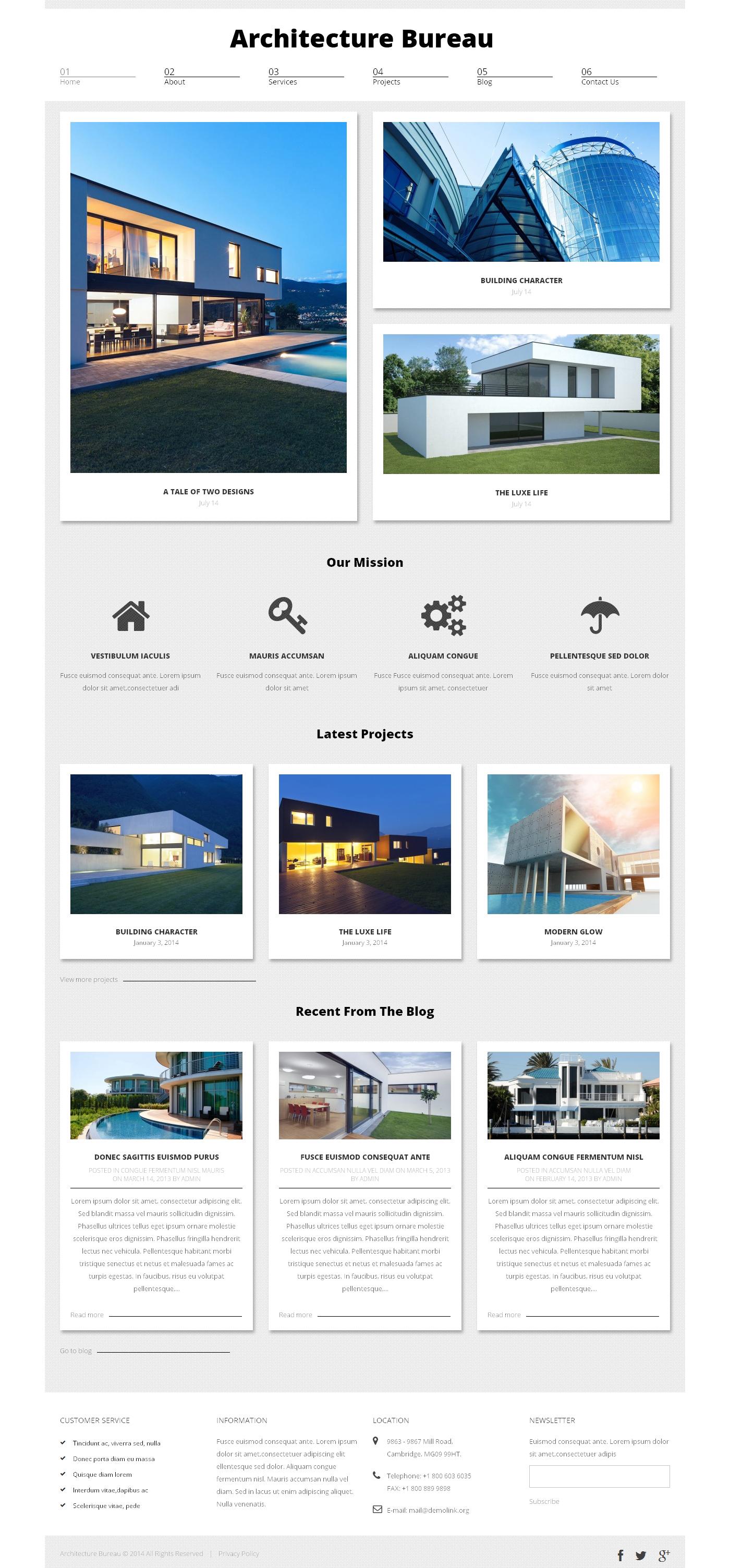 Architecture Bureau WordPress Theme