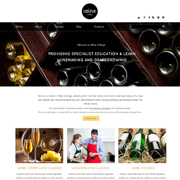 Template Mâncare și băutură HTML, JS şi CSS #49020