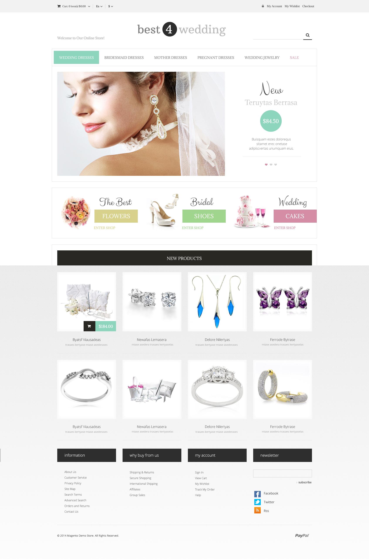 Wedding Shop Responsive Magento Theme