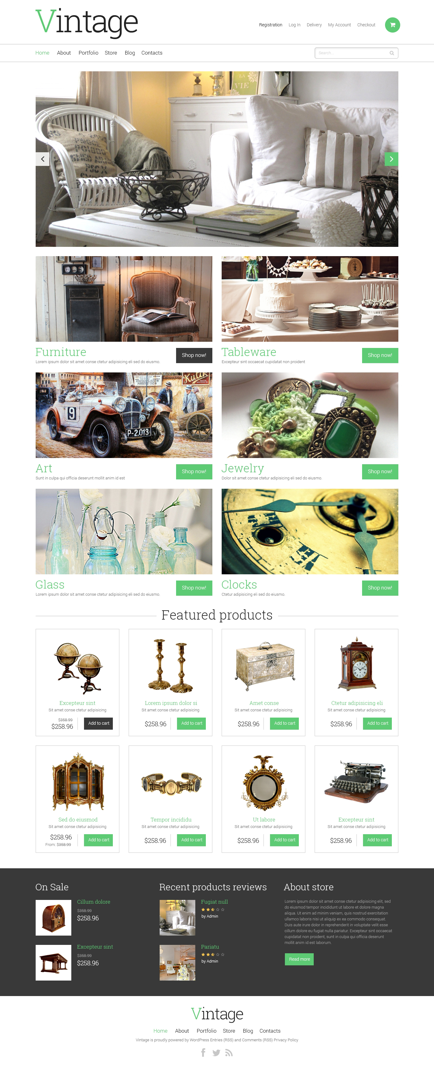 Antique Store WooCommerce Theme